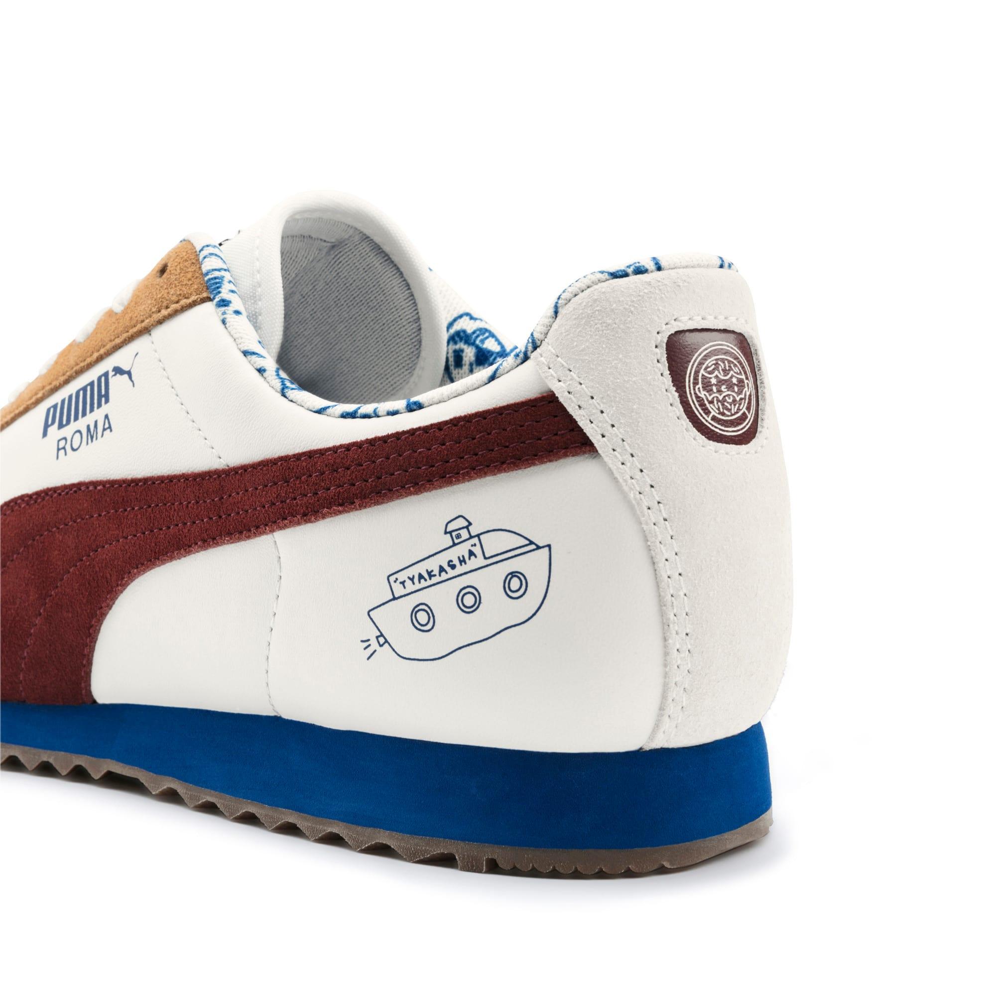 Thumbnail 10 of PUMA x TYAKASHA Roma Sneakers, Marshmallow-Fired Brick, medium