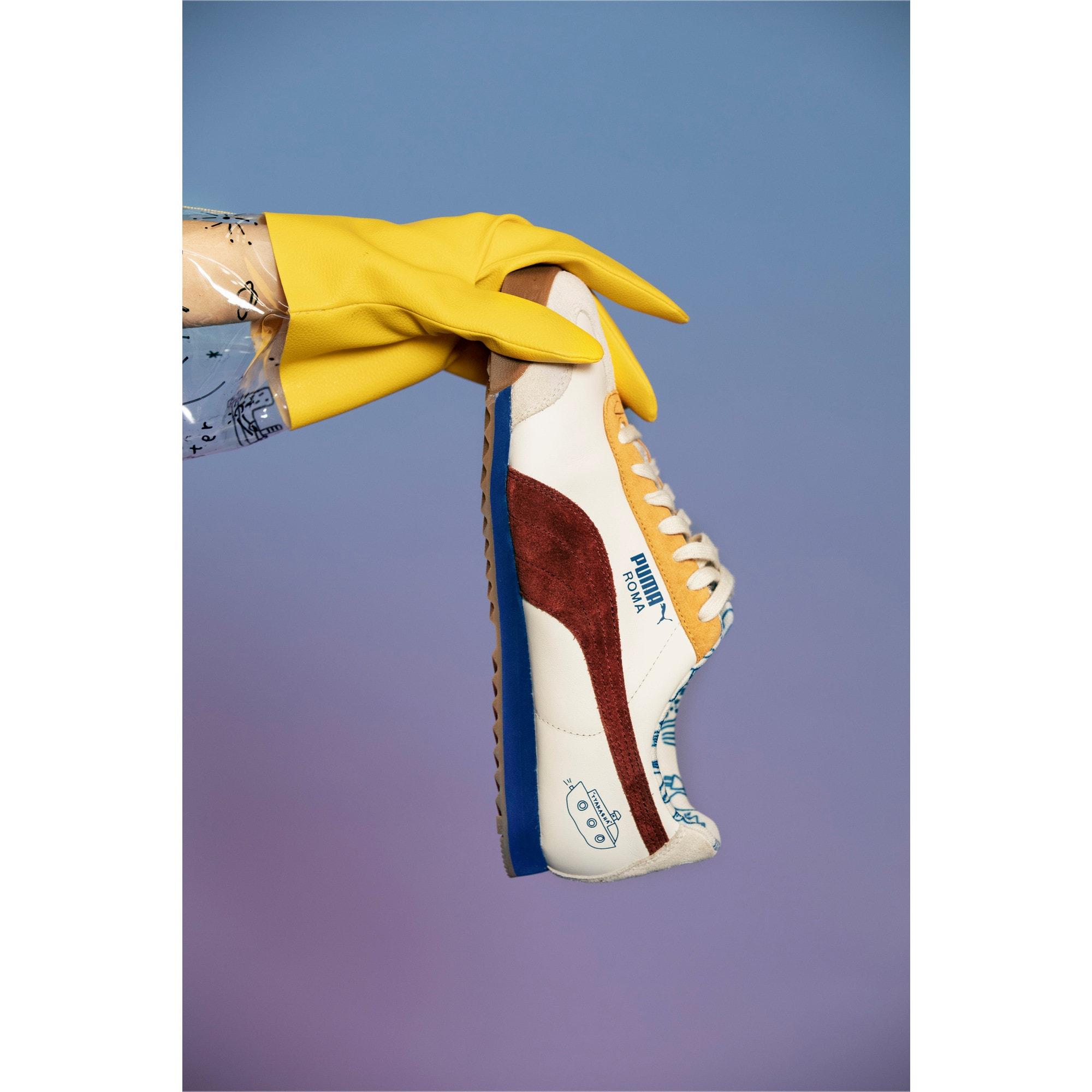 Thumbnail 11 of PUMA x TYAKASHA Roma Sneakers, Marshmallow-Fired Brick, medium