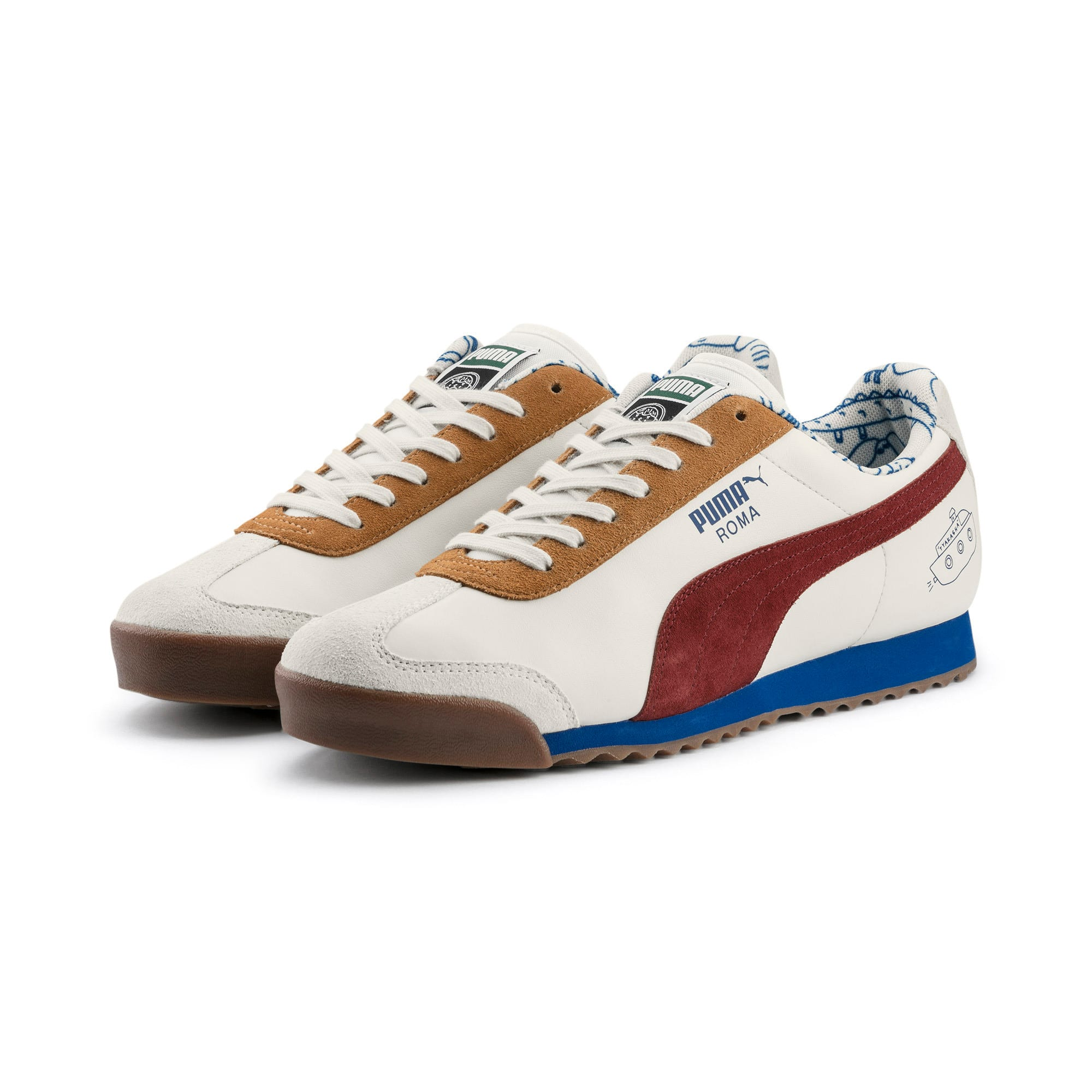 Thumbnail 4 of PUMA x TYAKASHA Roma Trainers, Marshmallow-Fired Brick, medium