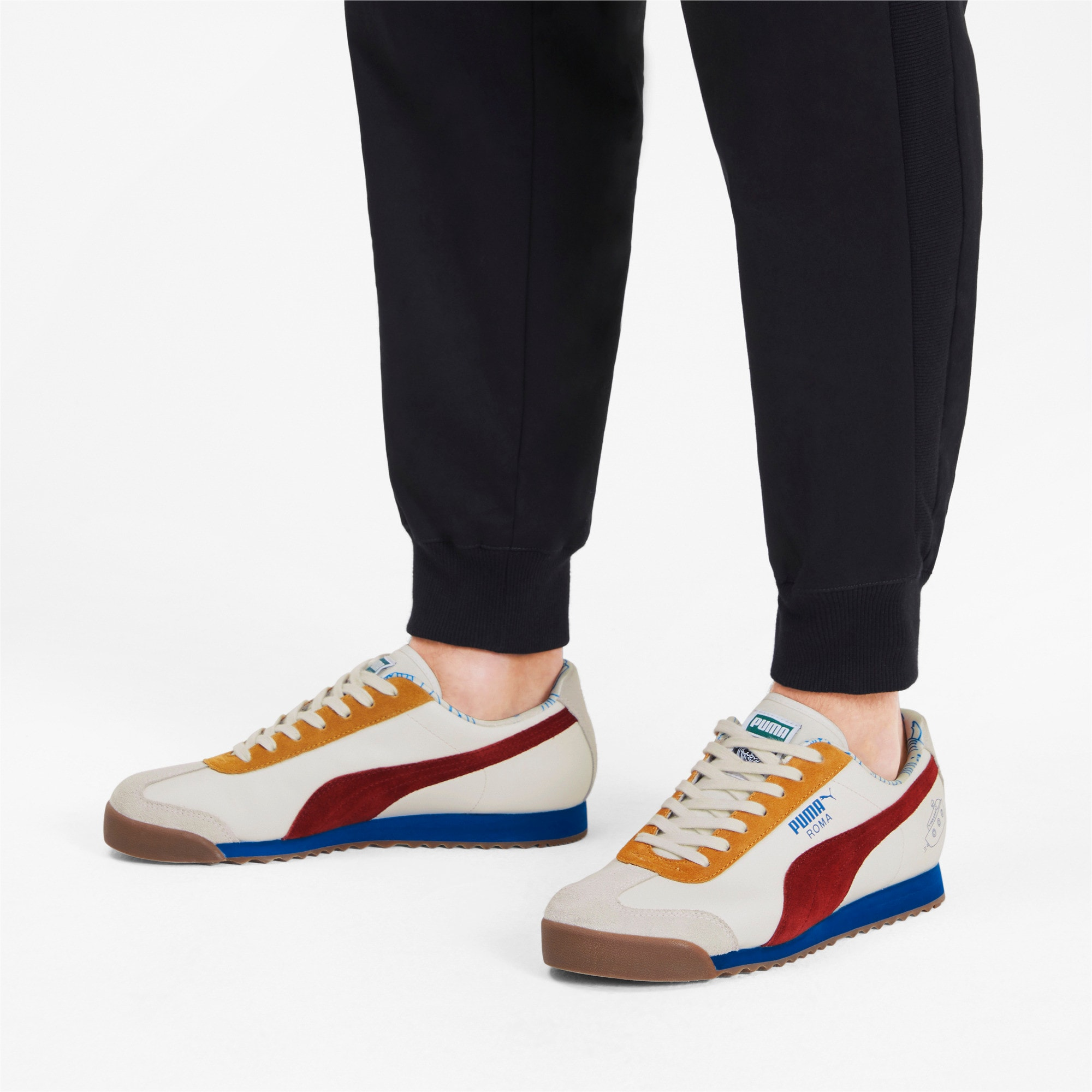Thumbnail 3 of PUMA x TYAKASHA Roma Trainers, Marshmallow-Fired Brick, medium