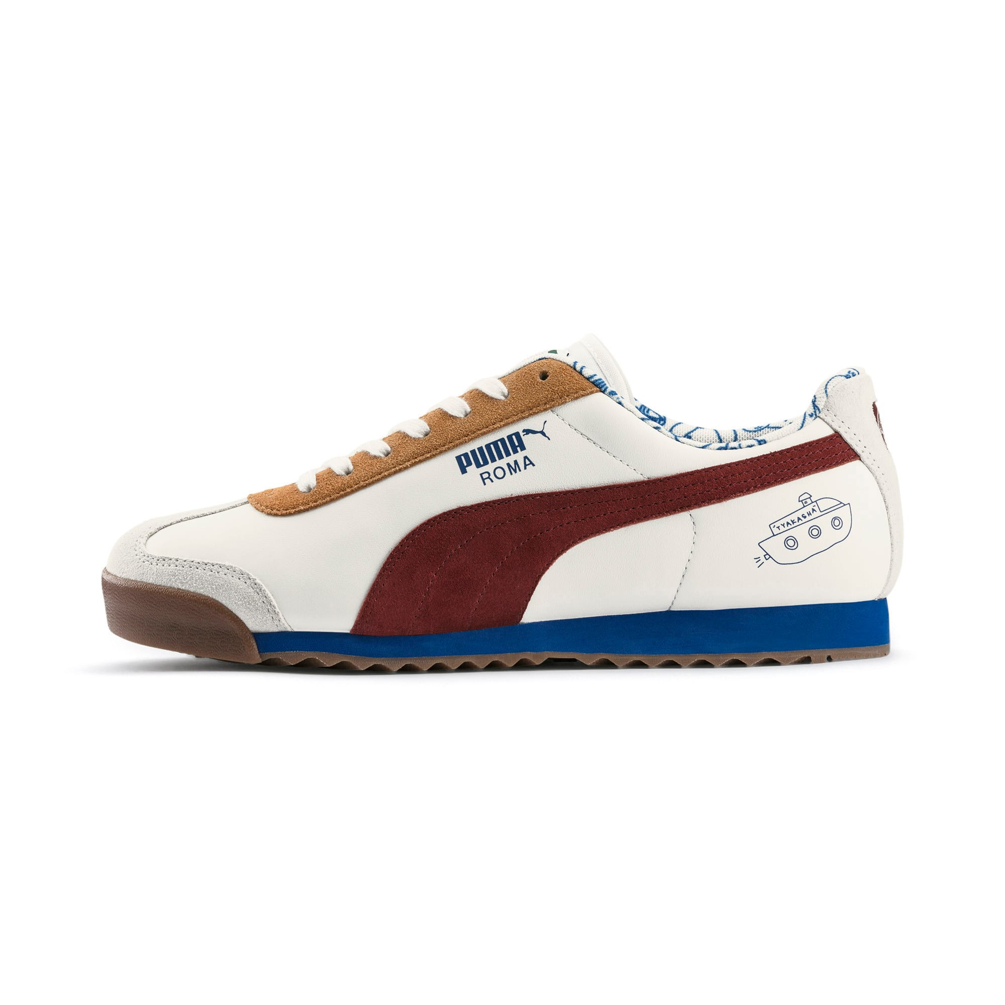 Thumbnail 1 of PUMA x TYAKASHA Roma Trainers, Marshmallow-Fired Brick, medium