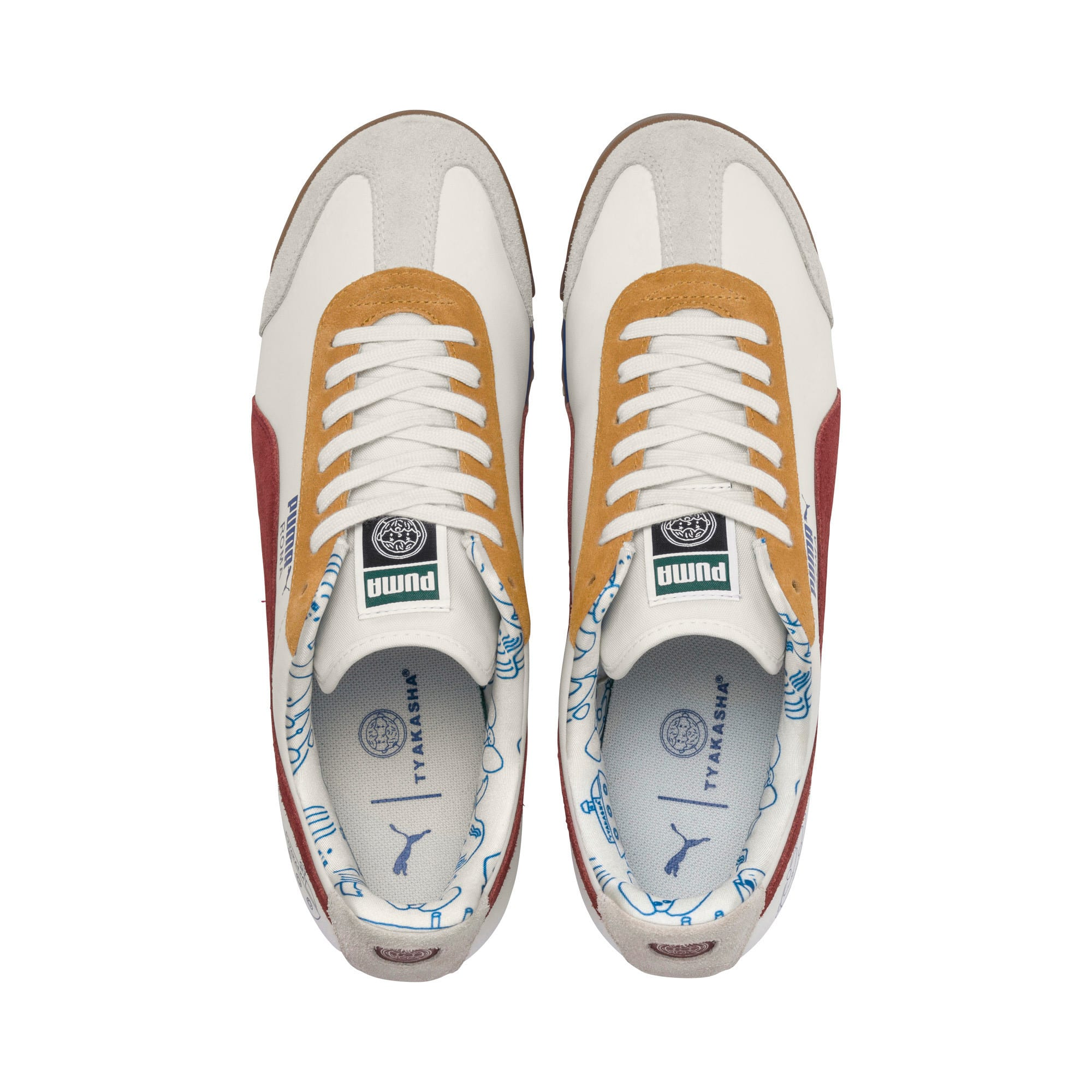 Thumbnail 8 of PUMA x TYAKASHA Roma Trainers, Marshmallow-Fired Brick, medium