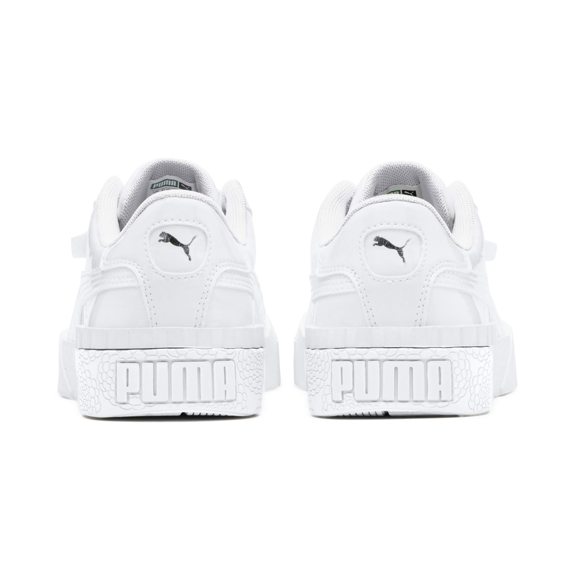 Thumbnail 3 of Cali Patent Youth Trainers, Puma White-Puma White, medium