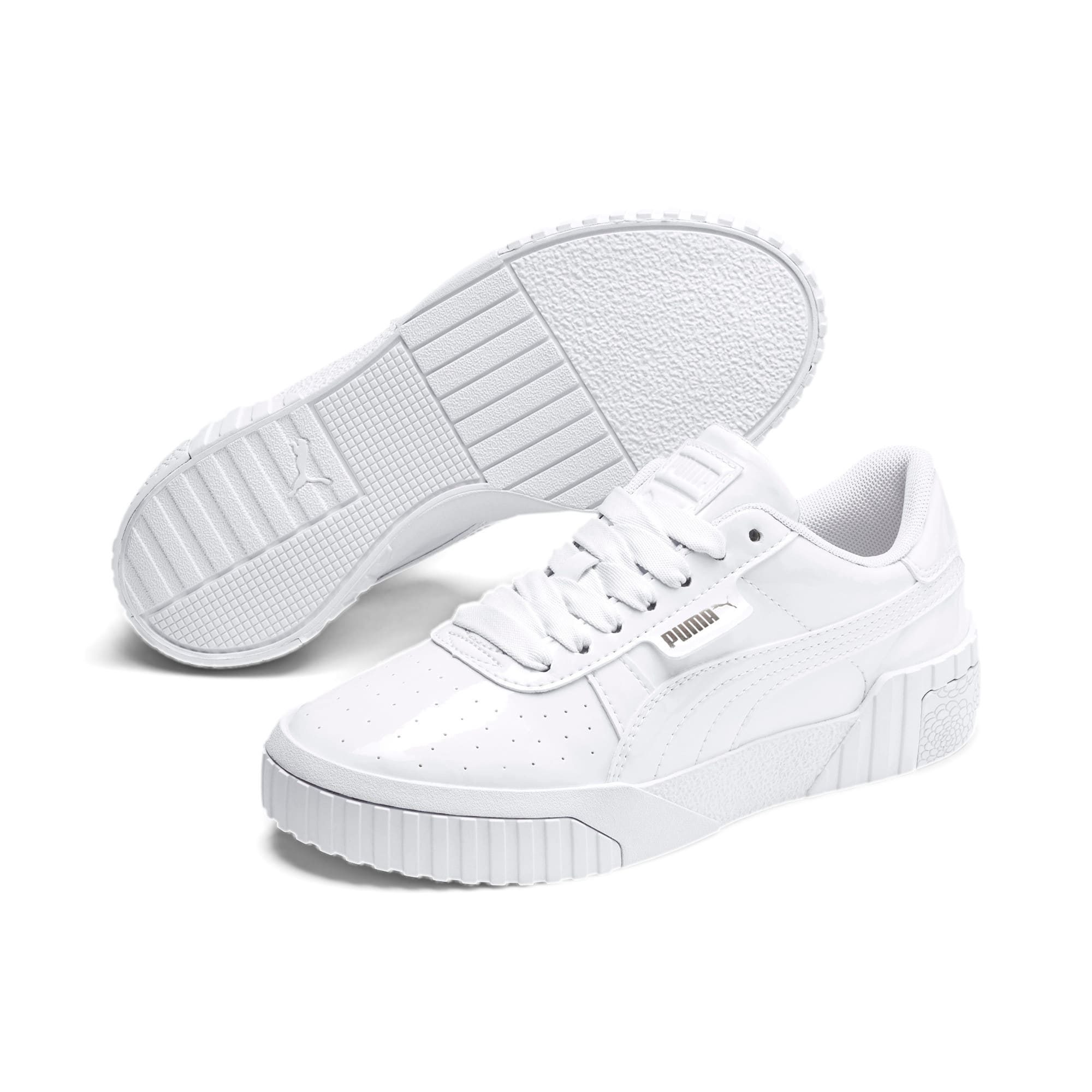 Thumbnail 2 of Cali Patent Youth Trainers, Puma White-Puma White, medium