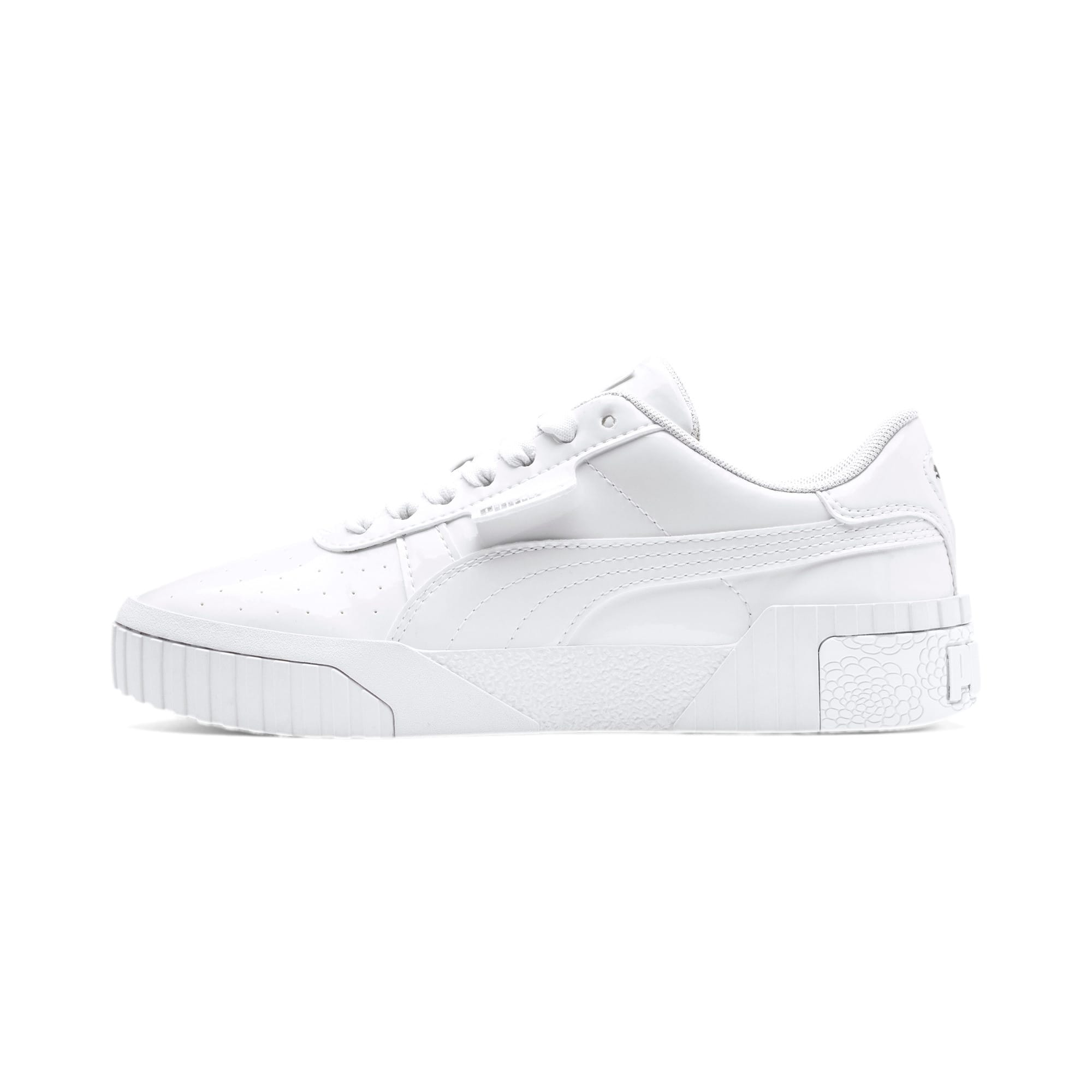 Thumbnail 1 of Cali Patent Youth Trainers, Puma White-Puma White, medium