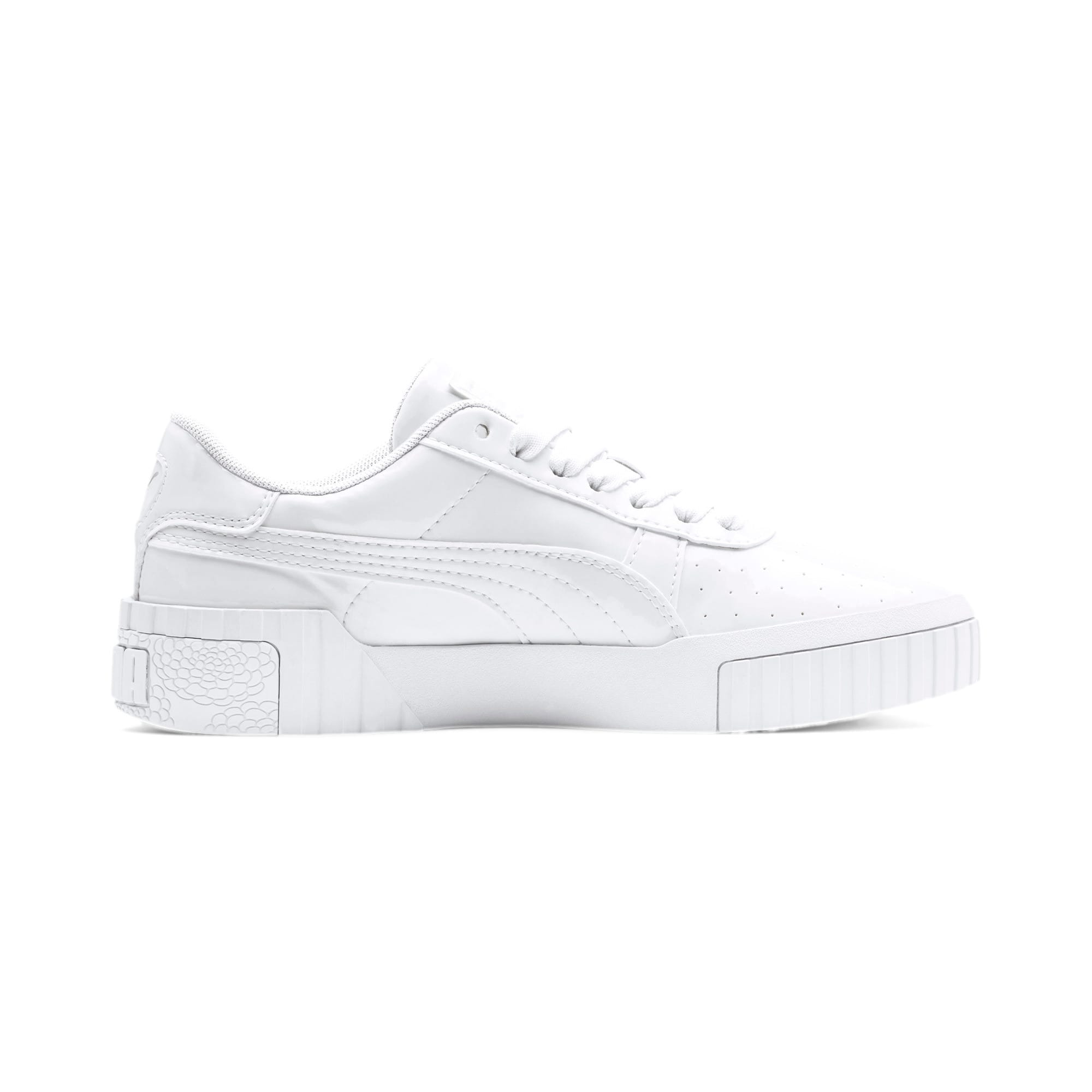 Thumbnail 5 of Cali Patent Youth Trainers, Puma White-Puma White, medium