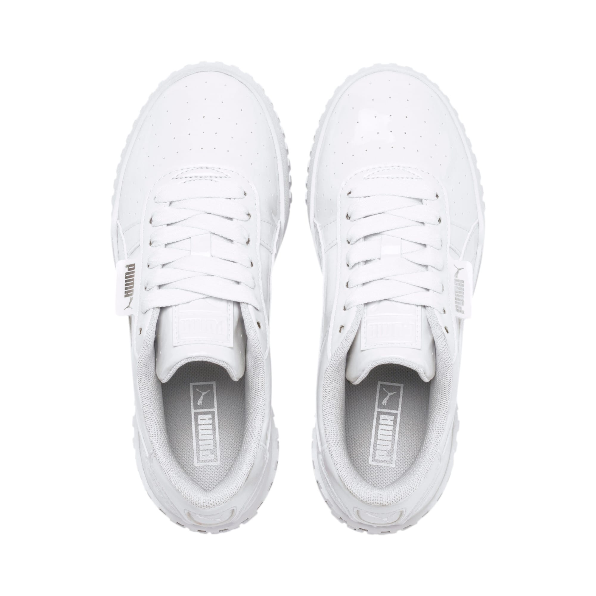 Thumbnail 6 of Cali Patent Youth Trainers, Puma White-Puma White, medium
