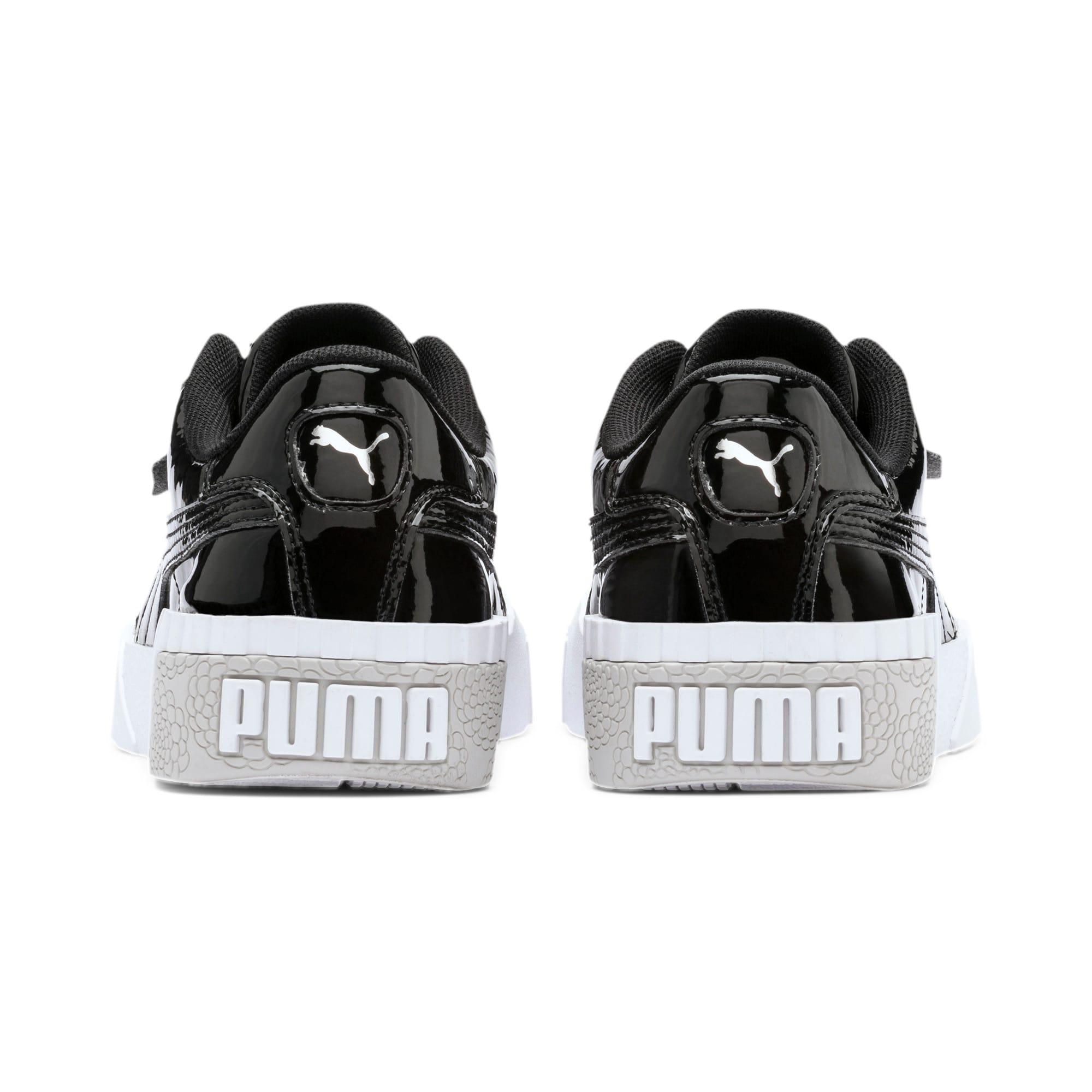 Thumbnail 3 of Cali Patent Youth Trainers, Puma Black-Puma White, medium