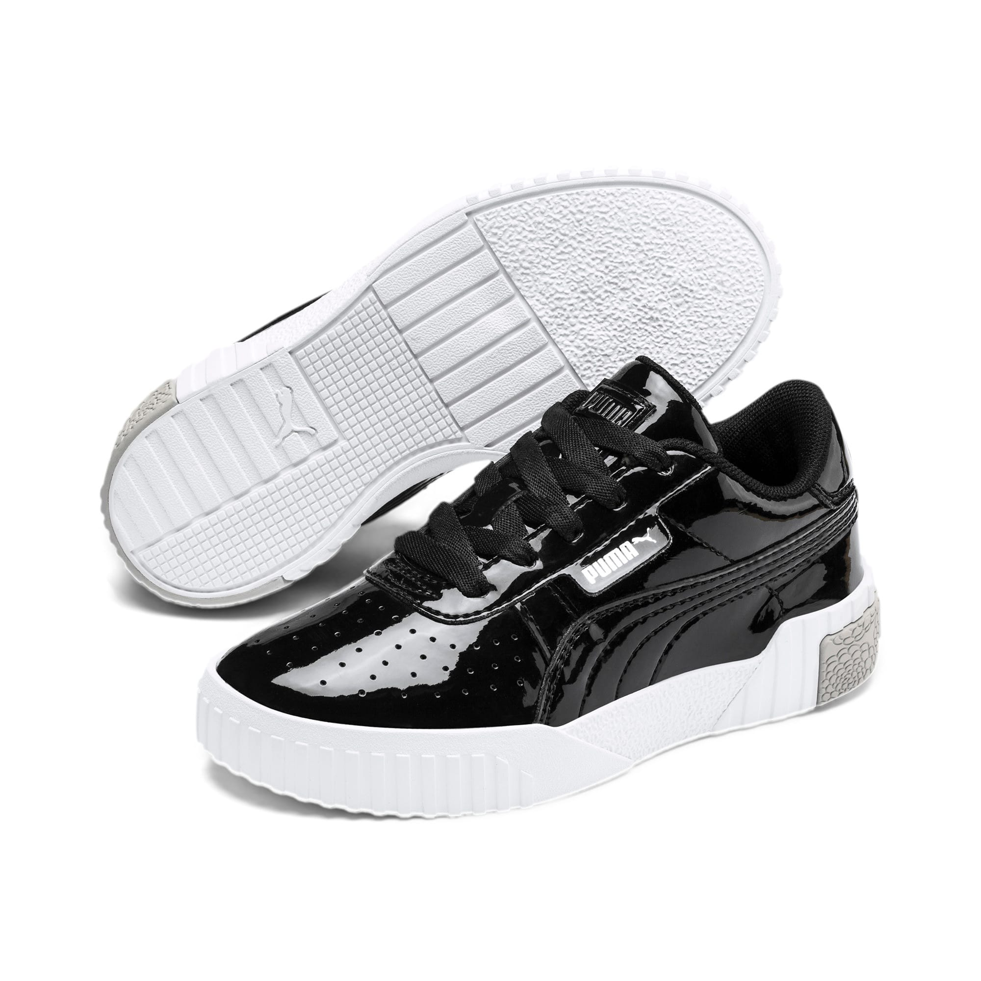 Thumbnail 2 of Cali Patent Kids' Trainers, Puma Black-Puma White, medium