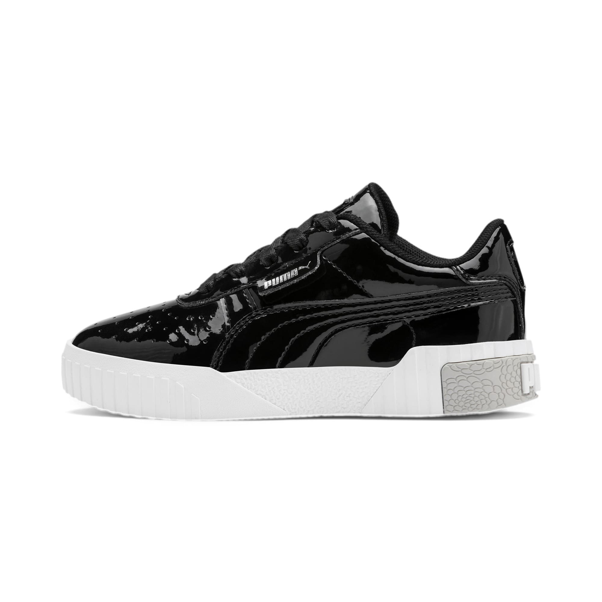 Thumbnail 1 of Cali Patent Kids' Trainers, Puma Black-Puma White, medium