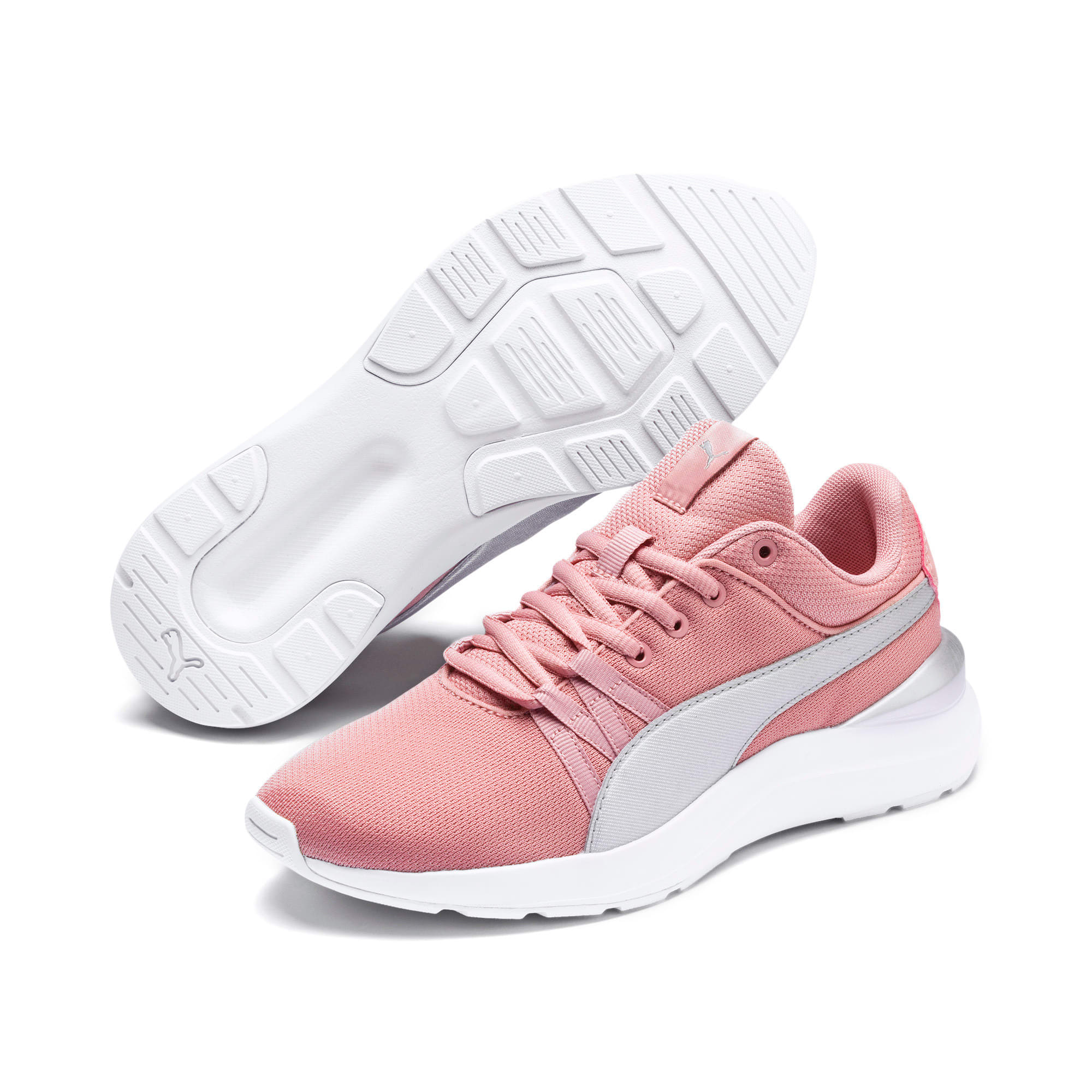 Thumbnail 2 of Adela Breathe Sneakers JR, Bridal Rose-Puma Silver, medium