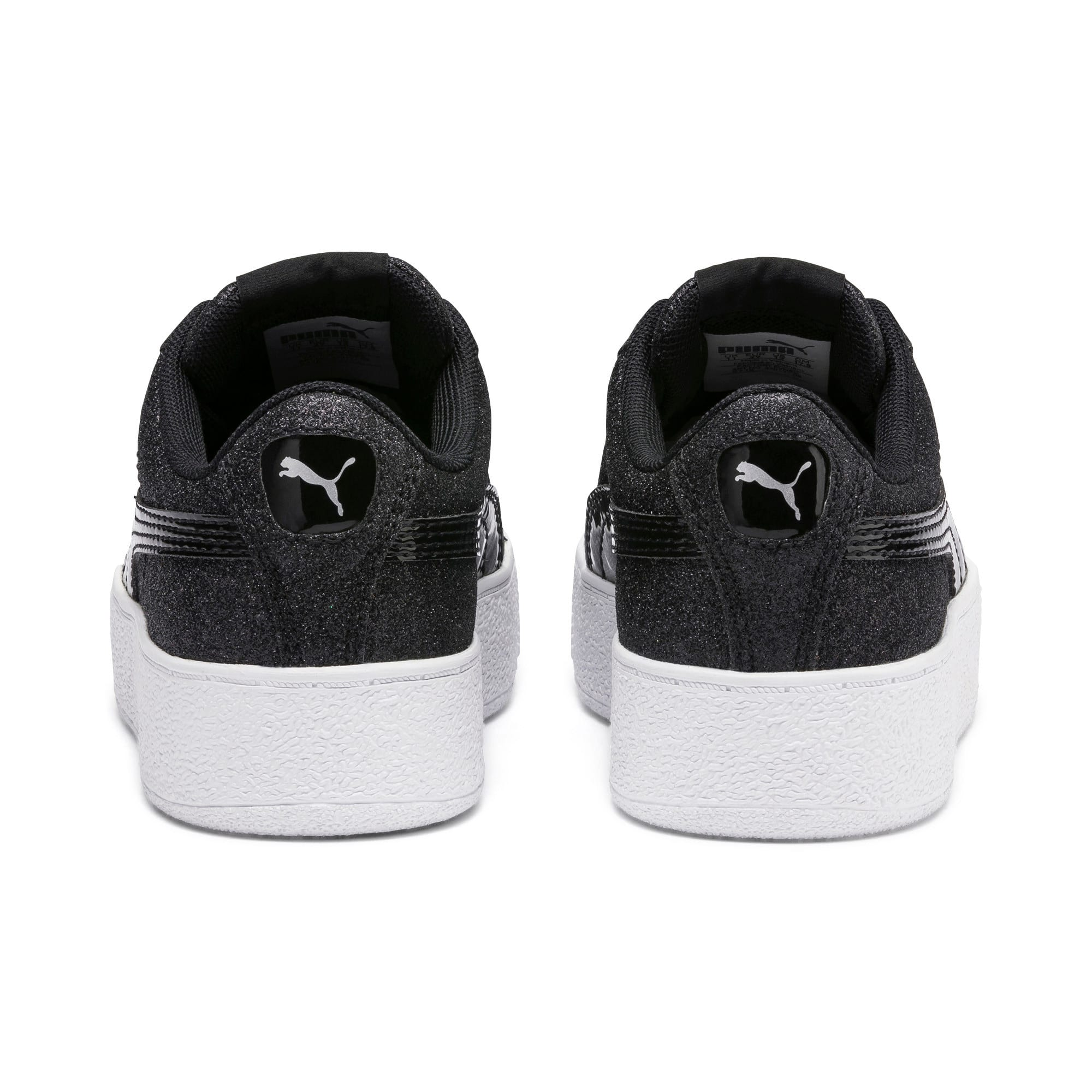 Thumbnail 3 of Basket Vikky Platform Glitz pour fille, Puma Black-Puma Black, medium