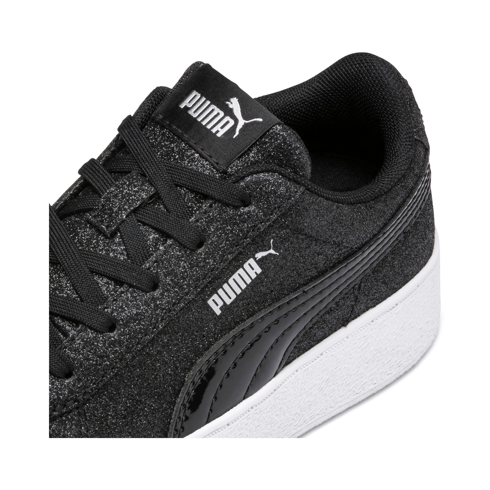 Thumbnail 7 of Basket Vikky Platform Glitz pour fille, Puma Black-Puma Black, medium