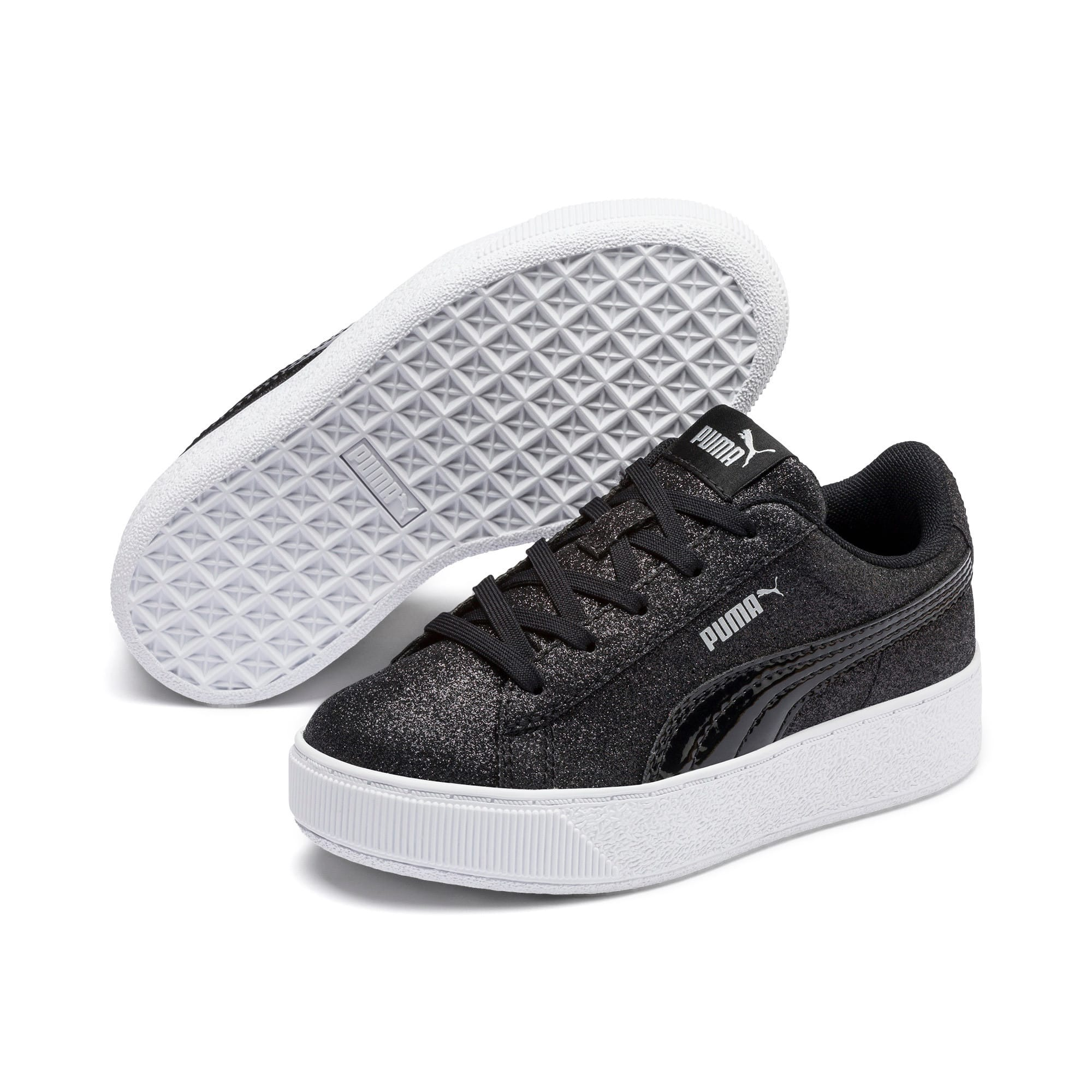 Thumbnail 2 of Basket Vikky Platform Glitz pour fille, Puma Black-Puma Black, medium