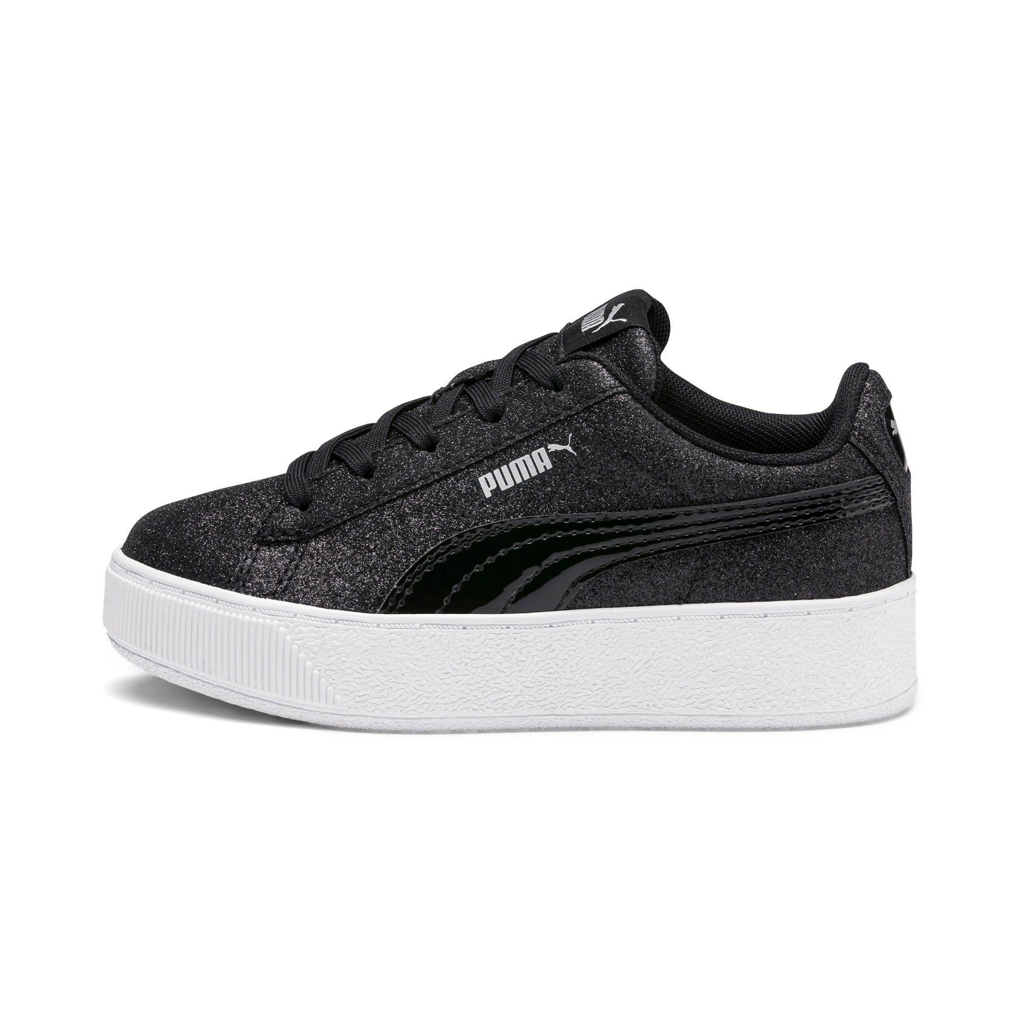 Thumbnail 1 of Basket Vikky Platform Glitz pour fille, Puma Black-Puma Black, medium