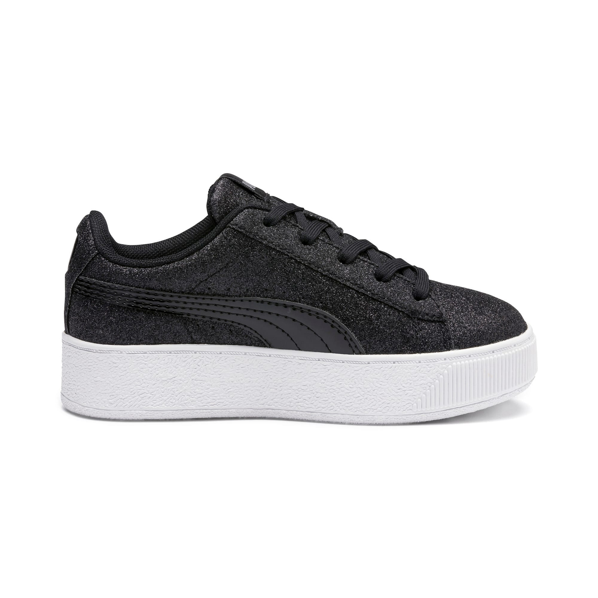 Thumbnail 5 of Basket Vikky Platform Glitz pour fille, Puma Black-Puma Black, medium