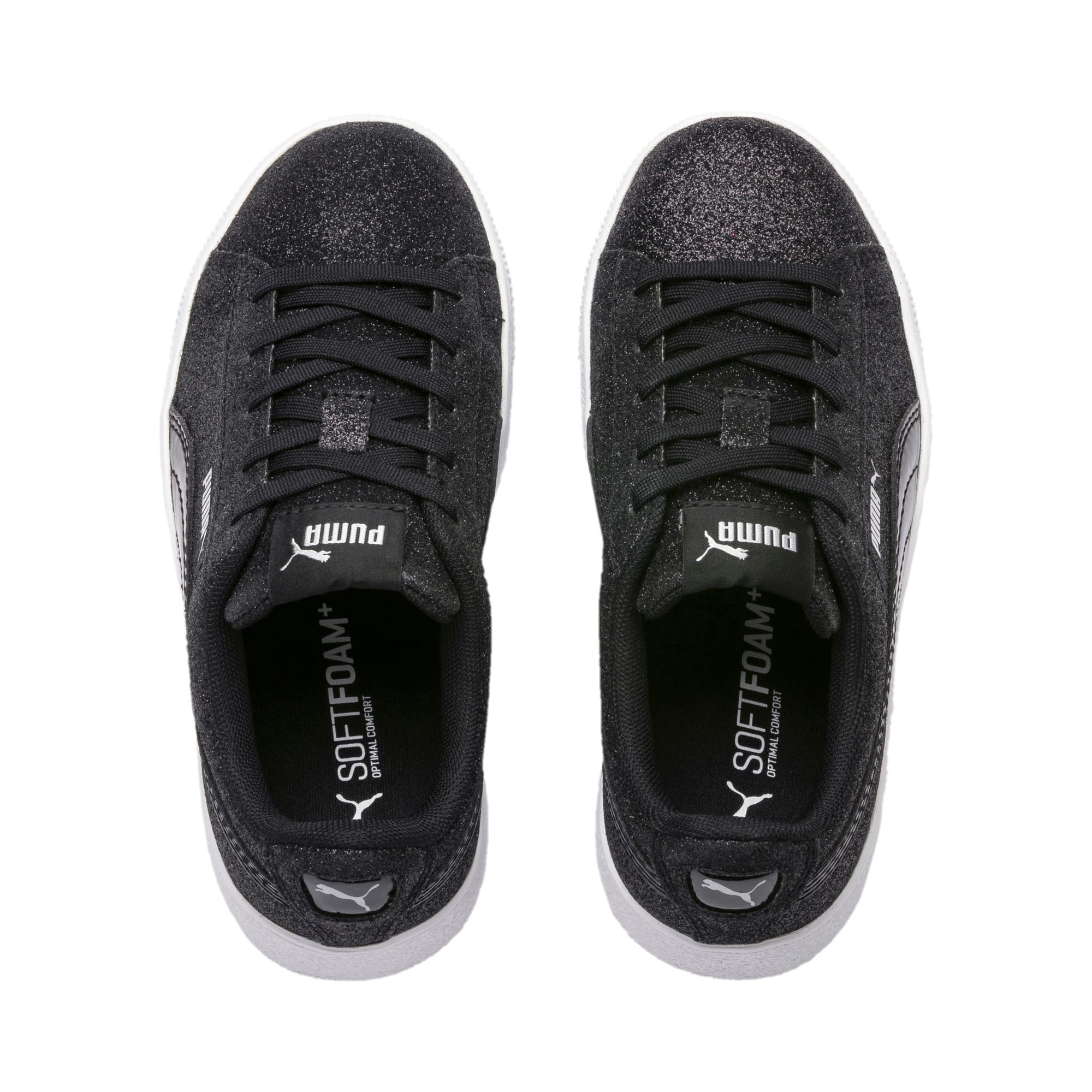Thumbnail 6 of Basket Vikky Platform Glitz pour fille, Puma Black-Puma Black, medium