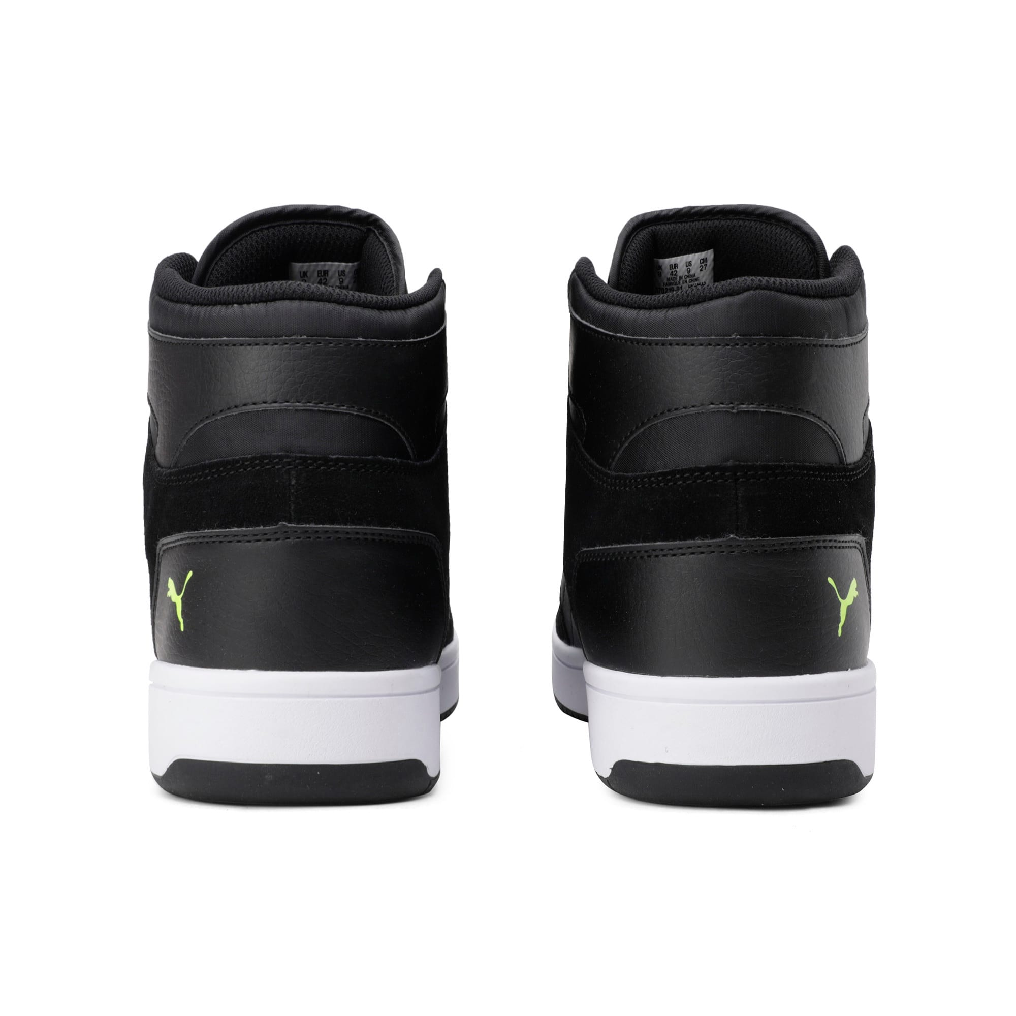 Thumbnail 5 of Rebound Layup Suede Trainers, Black-Yellow Alert-White, medium-IND