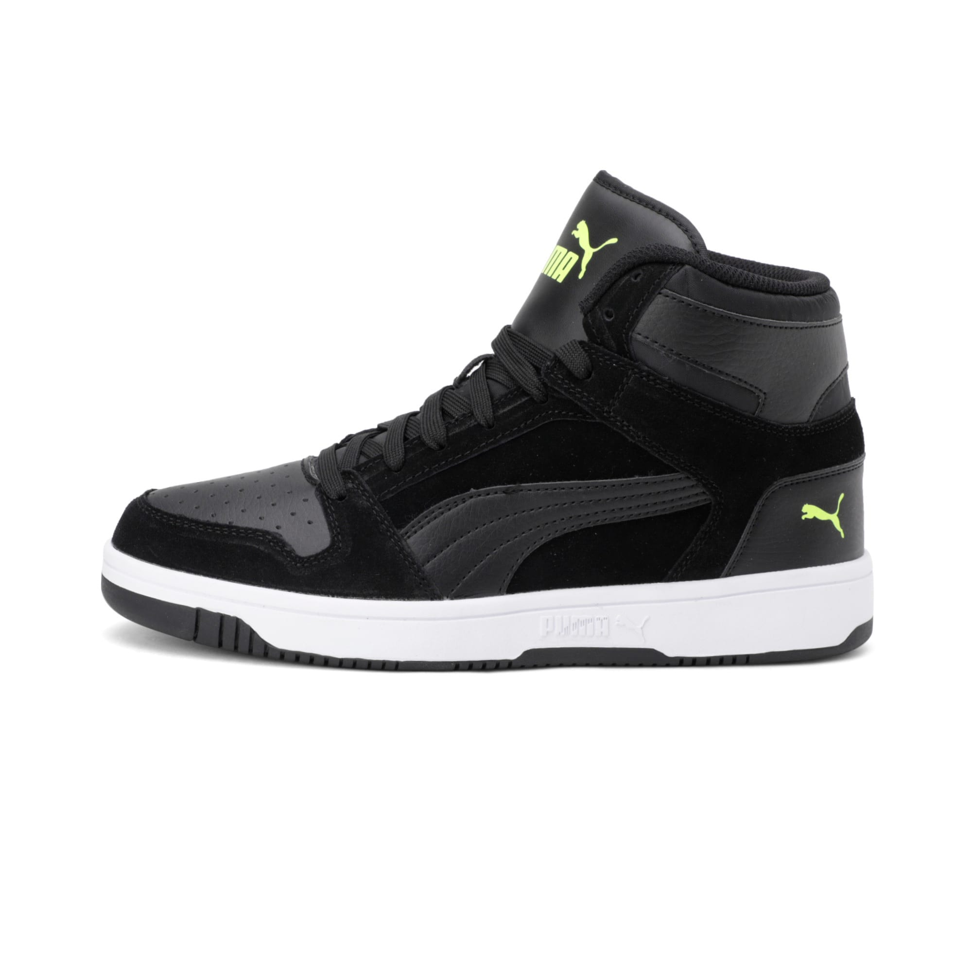 Thumbnail 1 of Rebound Layup Suede Trainers, Black-Yellow Alert-White, medium-IND