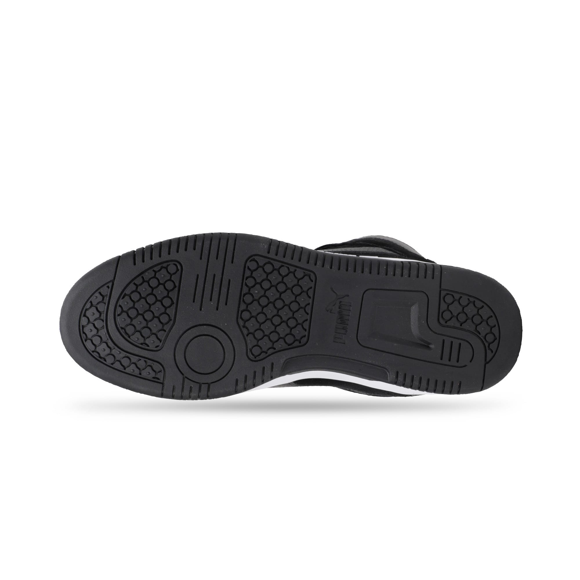 Thumbnail 6 of Rebound Layup Suede Trainers, Black-Yellow Alert-White, medium-IND