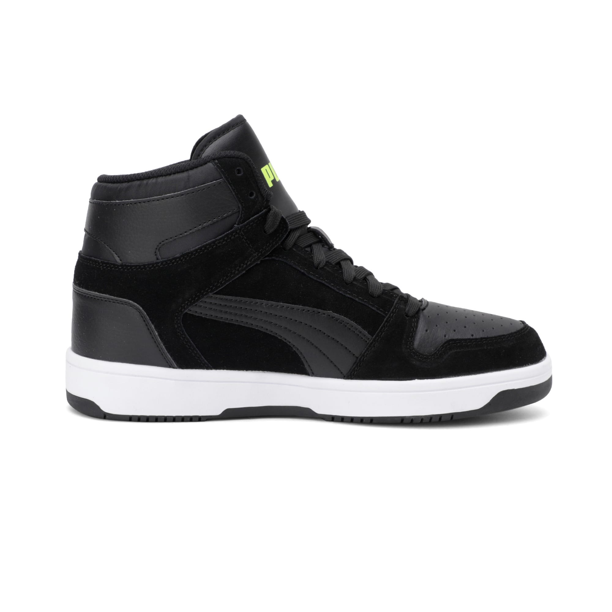 Thumbnail 7 of Rebound Layup Suede Trainers, Black-Yellow Alert-White, medium-IND