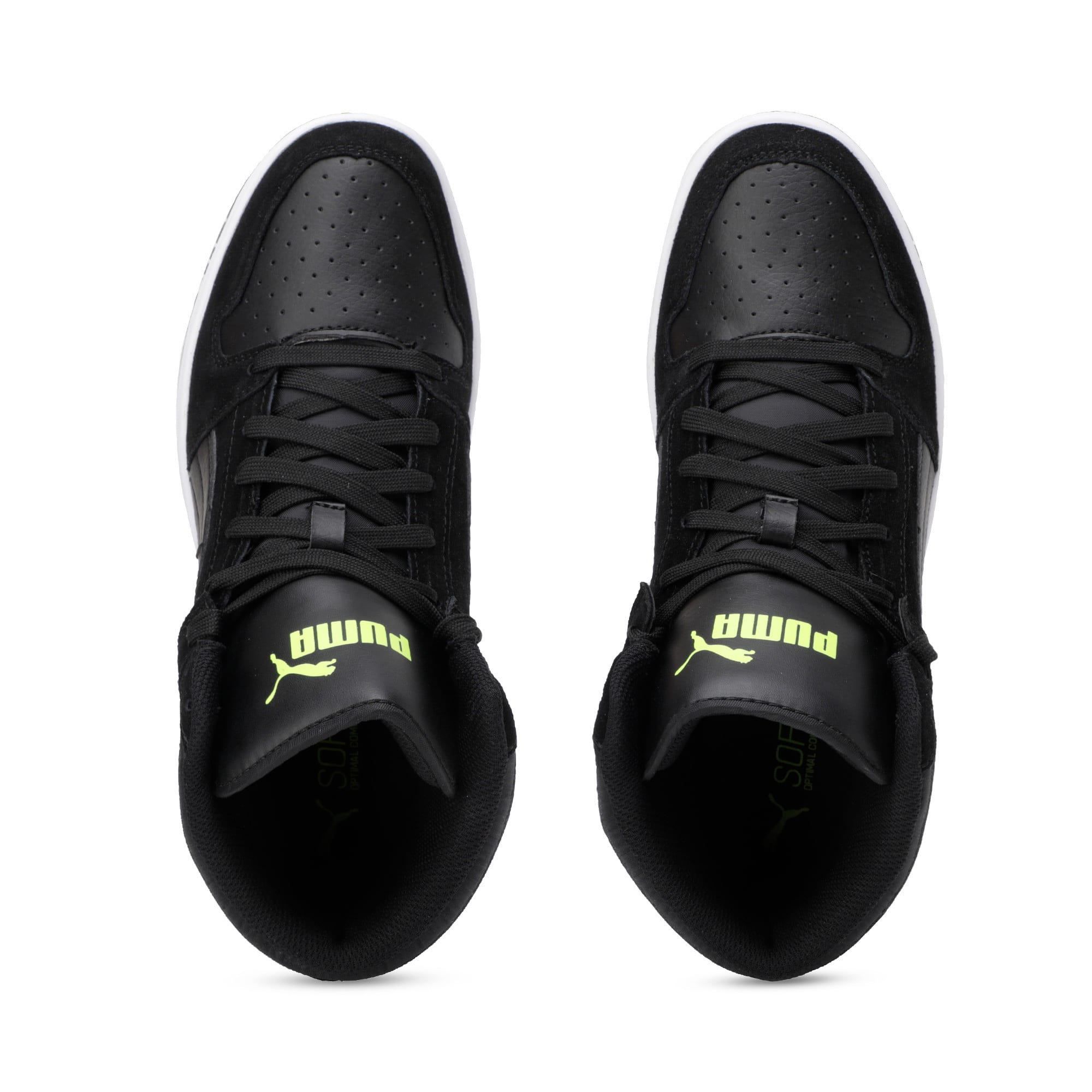 Thumbnail 8 of Rebound Layup Suede Trainers, Black-Yellow Alert-White, medium-IND