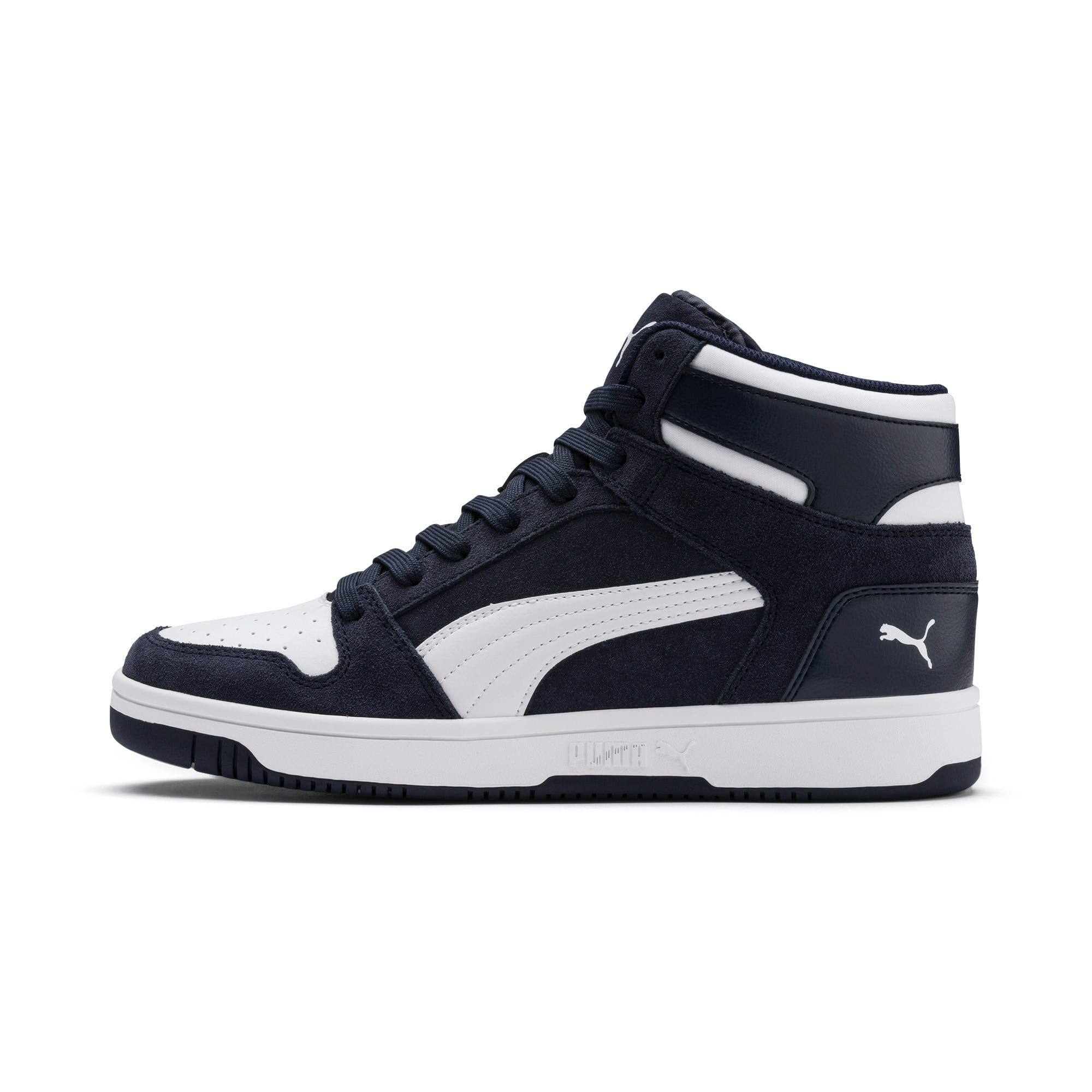 Thumbnail 1 of Rebound Layup Suede Trainers, Peacoat-Puma White, medium-IND