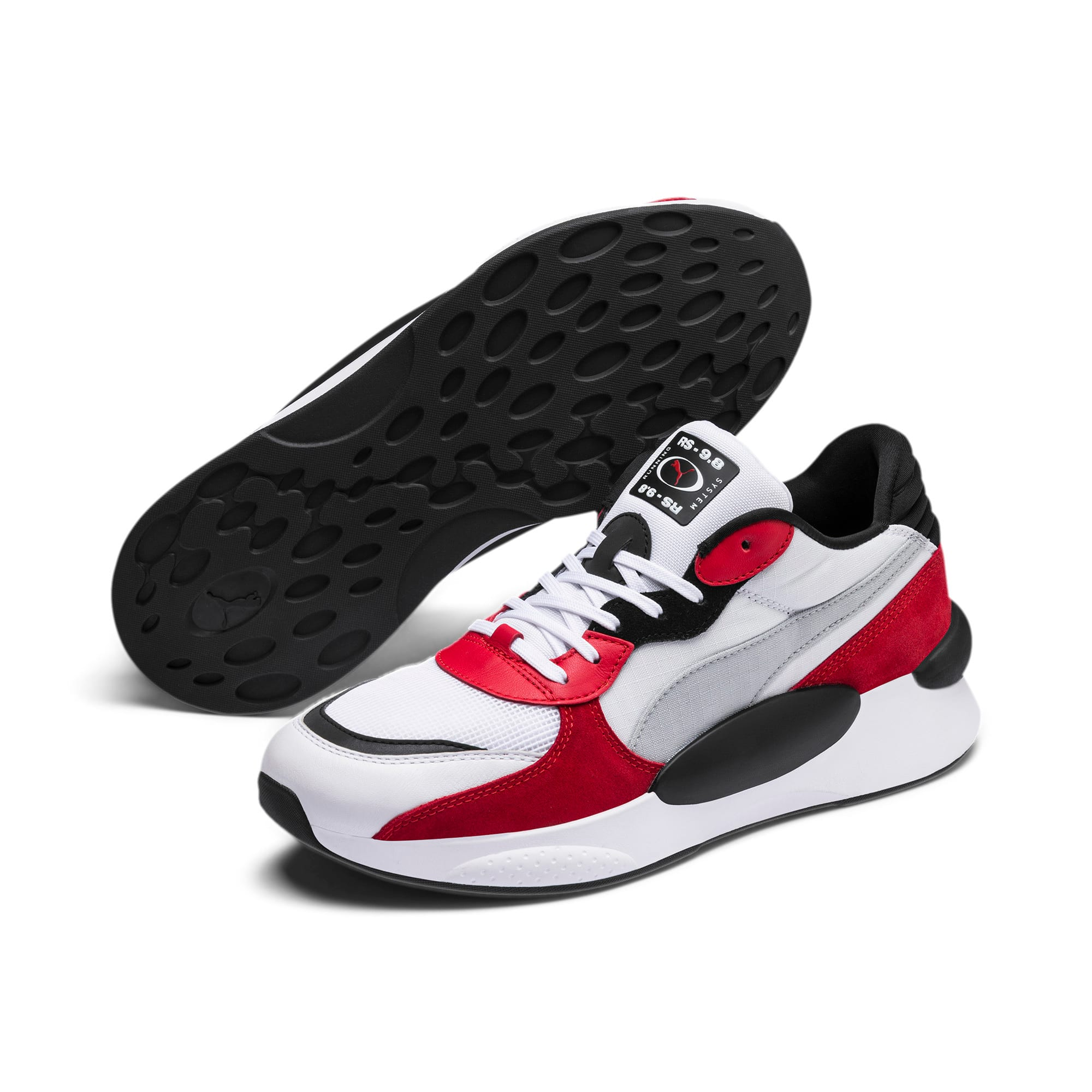 Thumbnail 3 of RS 9.8 Space sportschoenen, Puma White-High Risk Red, medium