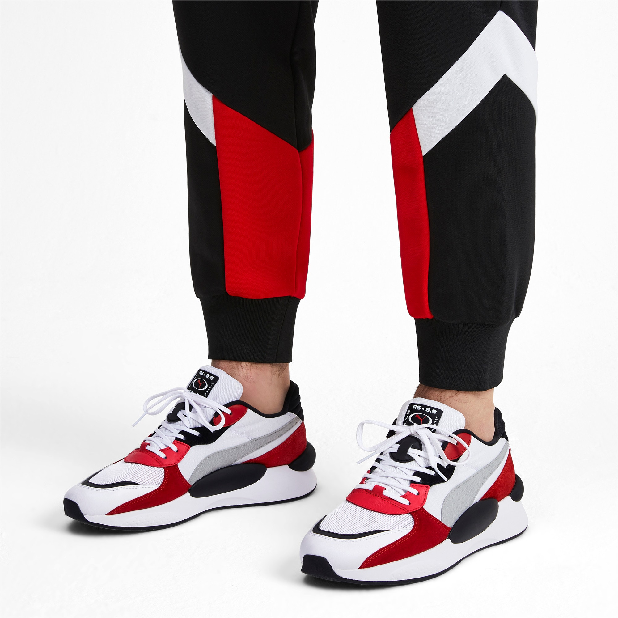 Thumbnail 2 of RS 9.8 Space Trainers, Puma White-High Risk Red, medium-IND