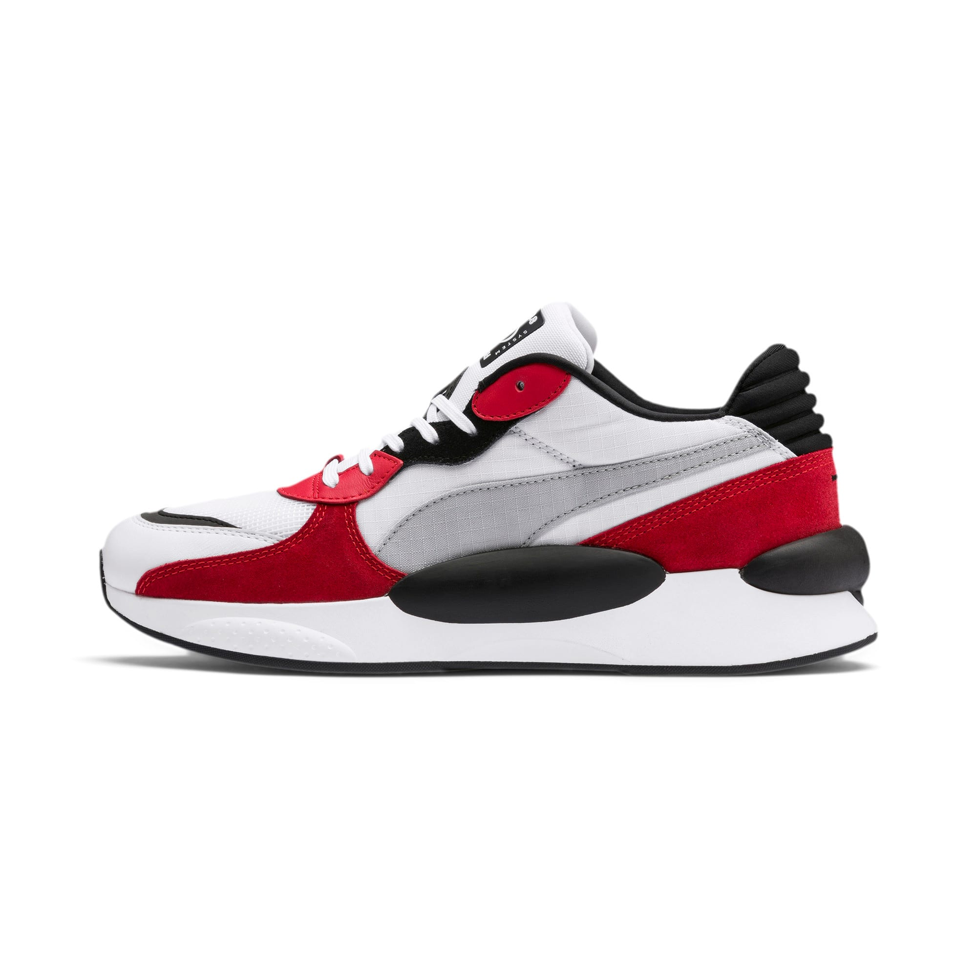 Thumbnail 1 of RS 9.8 Space sportschoenen, Puma White-High Risk Red, medium
