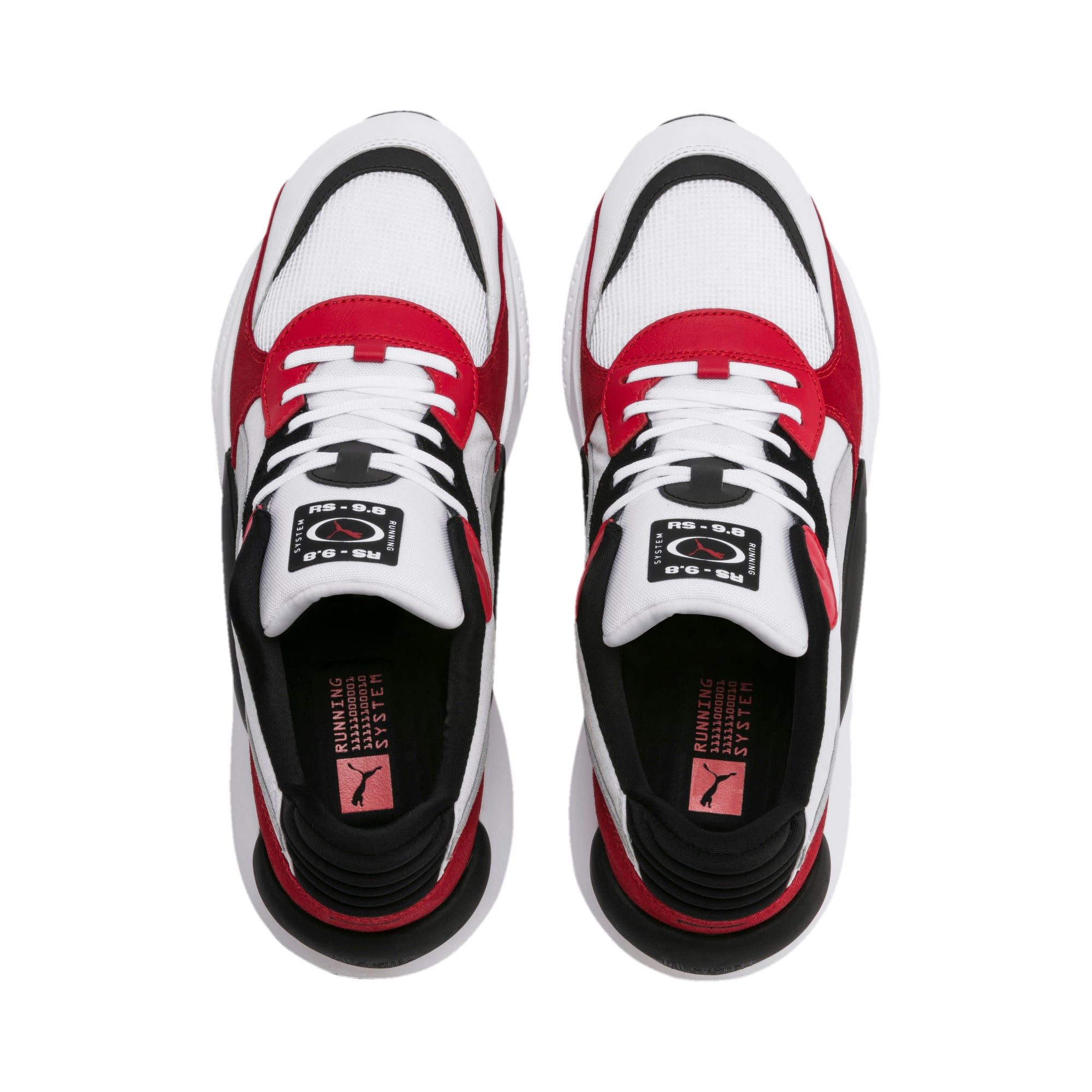 Thumbnail 8 of RS 9.8 Space Trainers, Puma White-High Risk Red, medium-IND