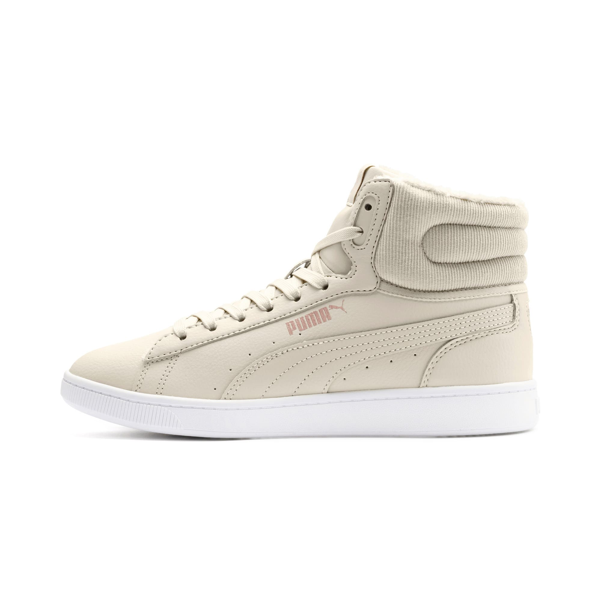 Vikky v2 Mid-Cut Winter Women's Trainers, Overcast-Rose Gold-White, large