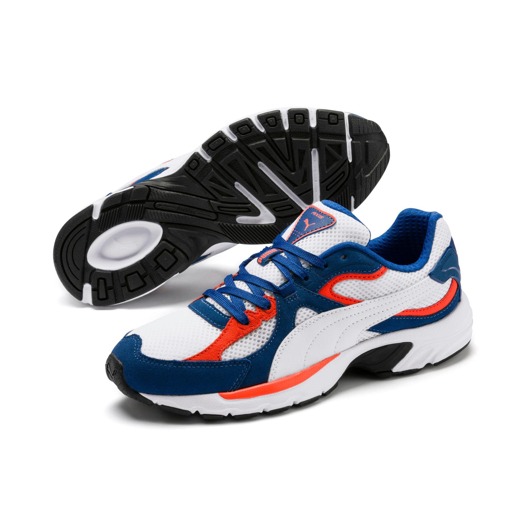 Thumbnail 3 of Axis Plus SD sneakers, White-G Blue-C Tomato-Black, medium