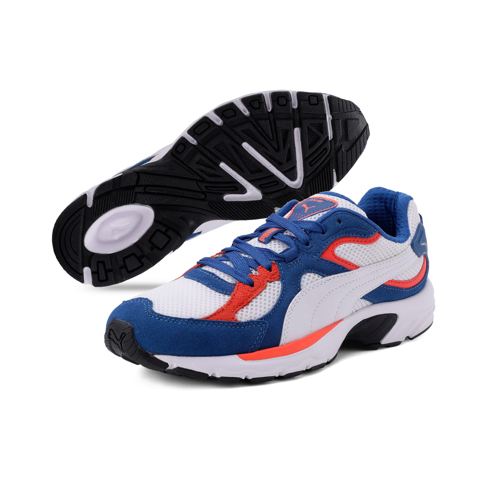 Thumbnail 4 of Axis Plus SD Trainers, White-G Blue-C Tomato-Black, medium-IND
