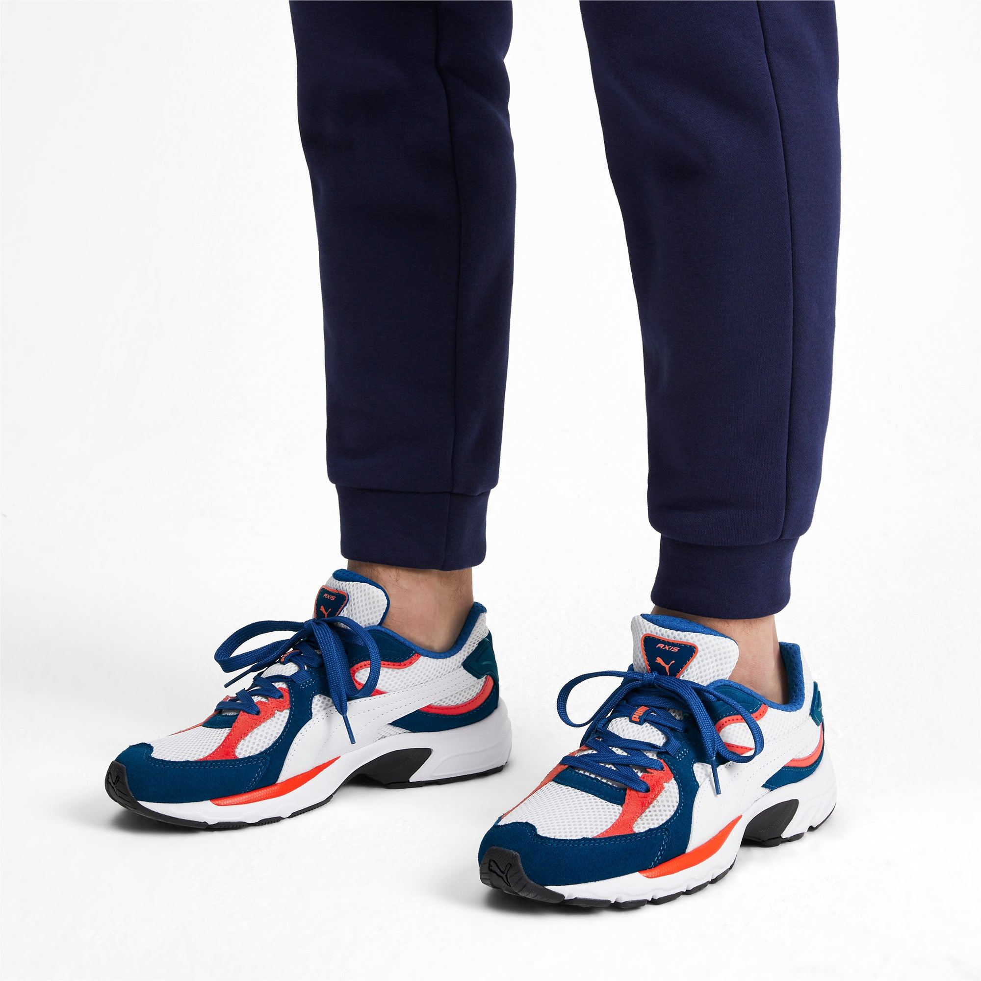 Thumbnail 2 of Axis Plus SD sneakers, White-G Blue-C Tomato-Black, medium