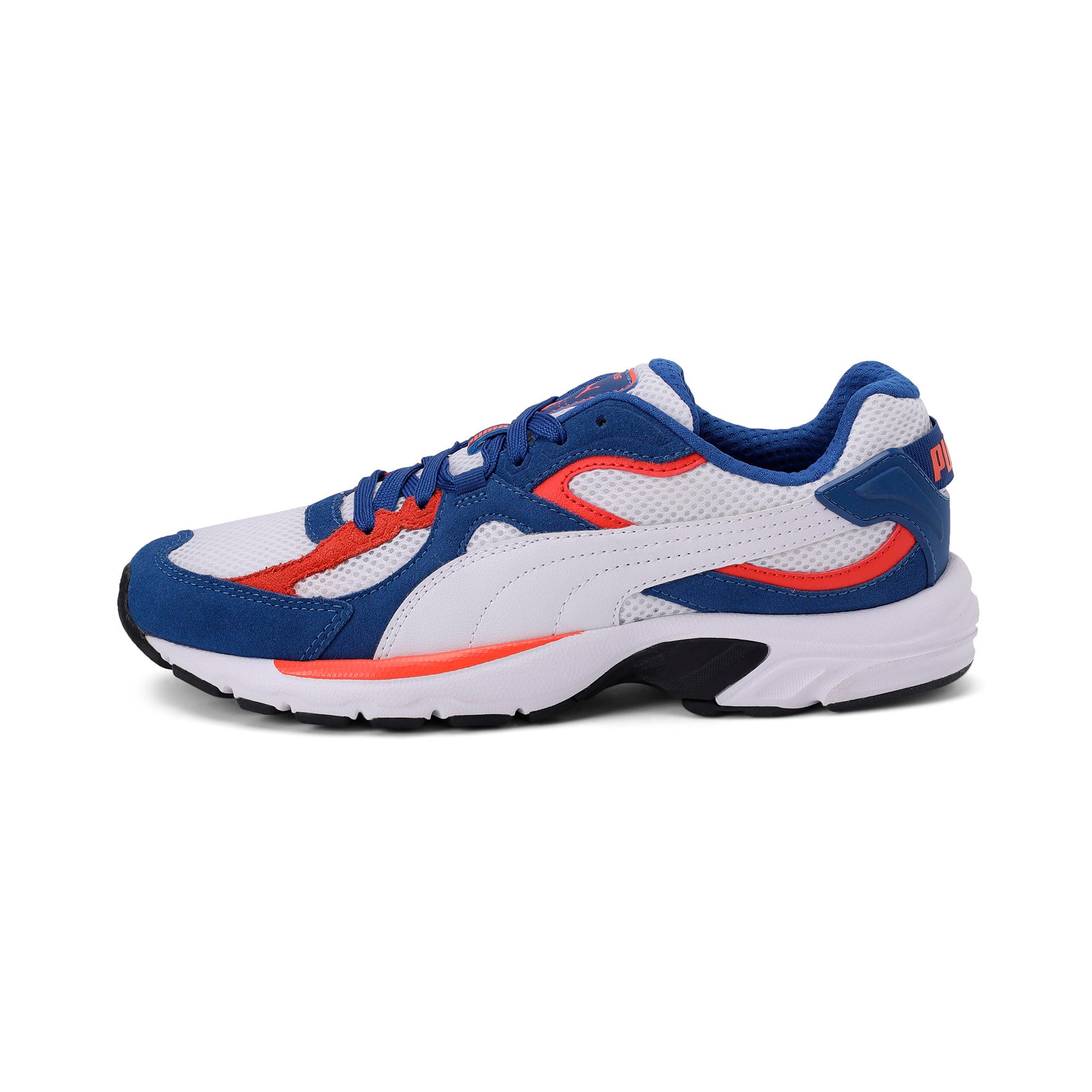 Thumbnail 1 of Axis Plus SD Trainers, White-G Blue-C Tomato-Black, medium-IND