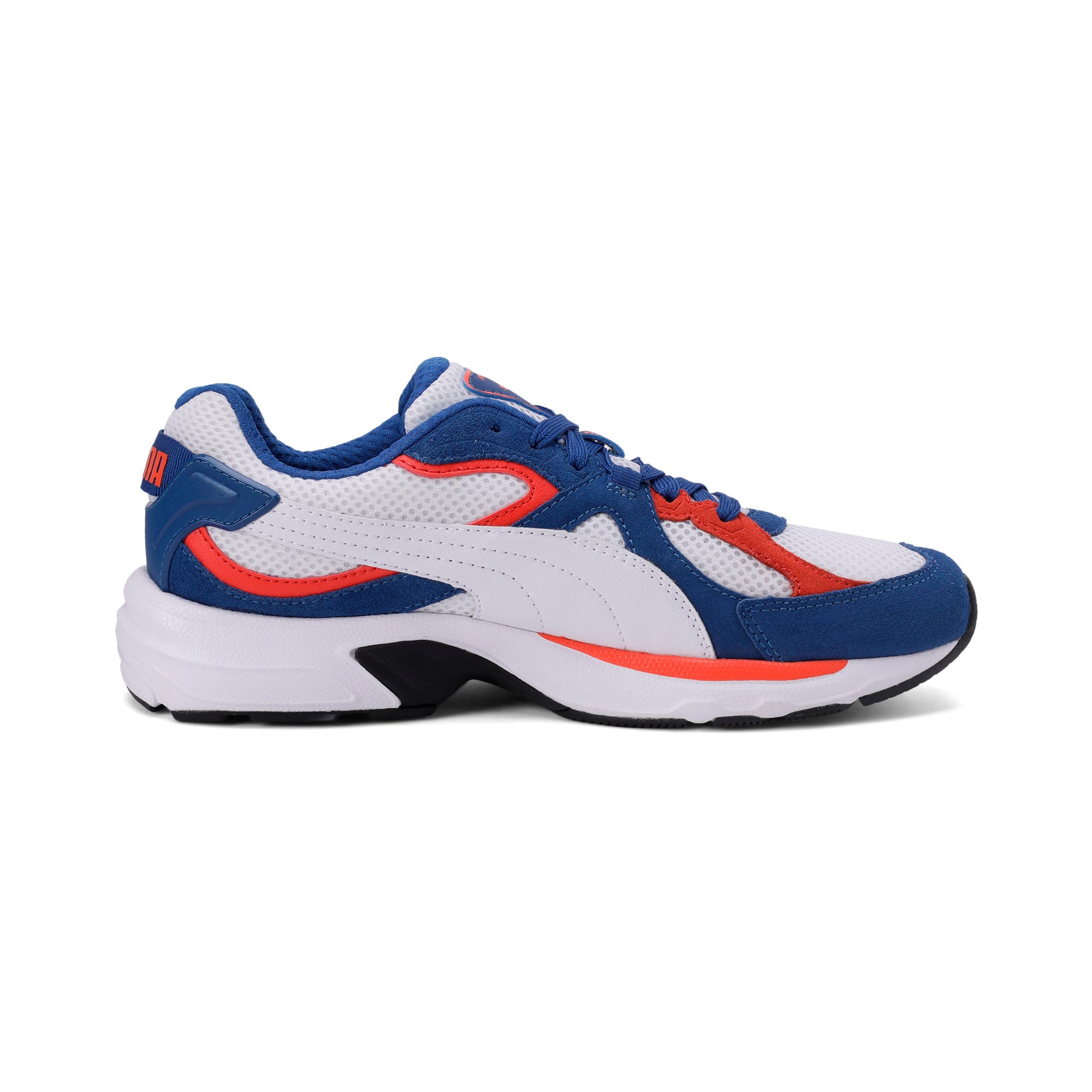 Thumbnail 7 of Axis Plus SD Trainers, White-G Blue-C Tomato-Black, medium-IND