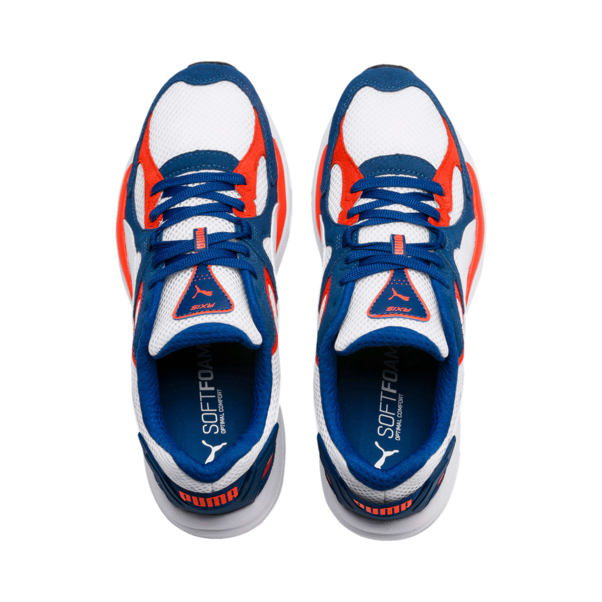 Thumbnail 8 of Axis Plus SD Trainers, White-G Blue-C Tomato-Black, medium-IND