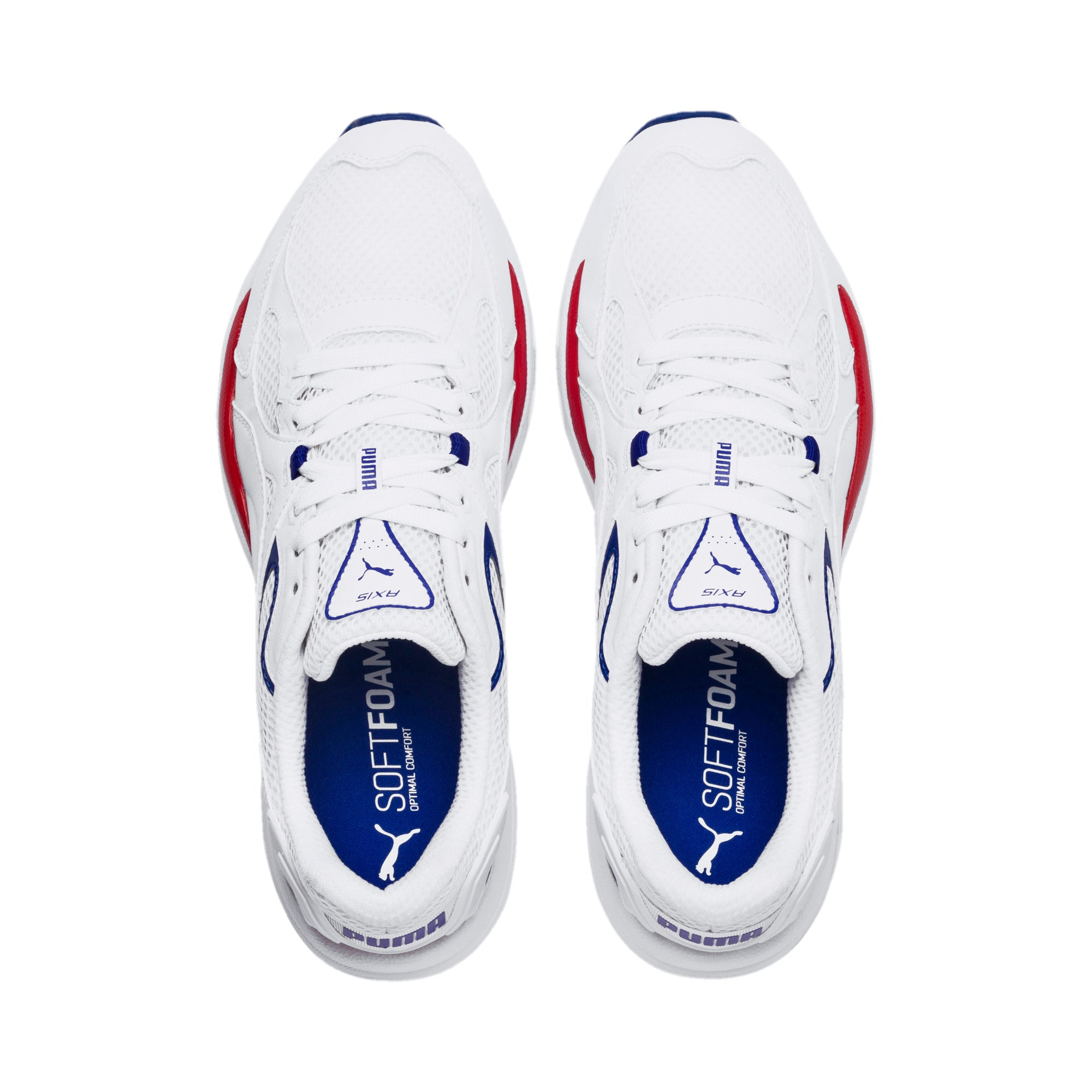 Thumbnail 6 of Axis Plus 90s Sneakers, Puma White-Puma White, medium