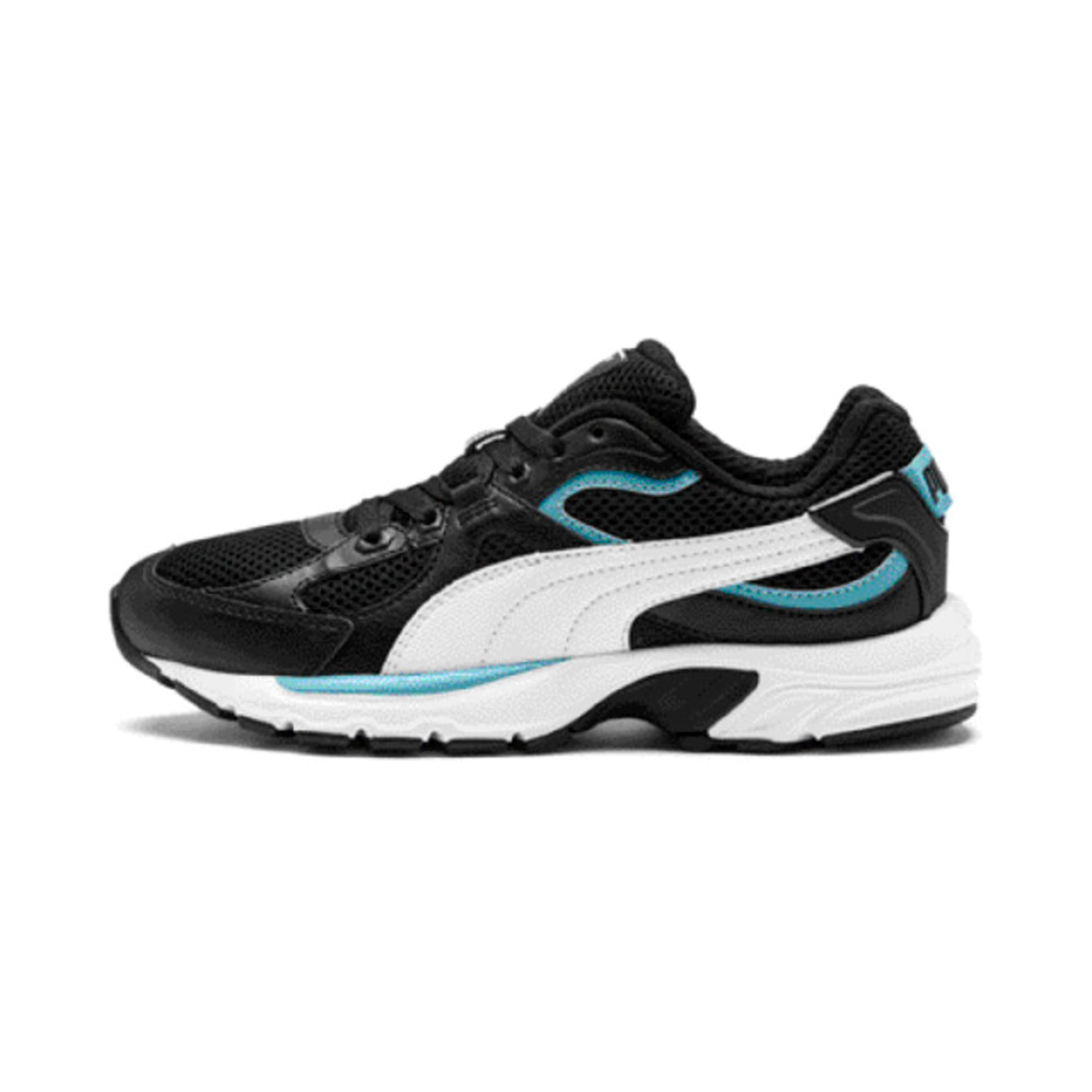 Thumbnail 1 of Axis Plus 90s Trainers, Puma Black-White-Milky Blue, medium-IND