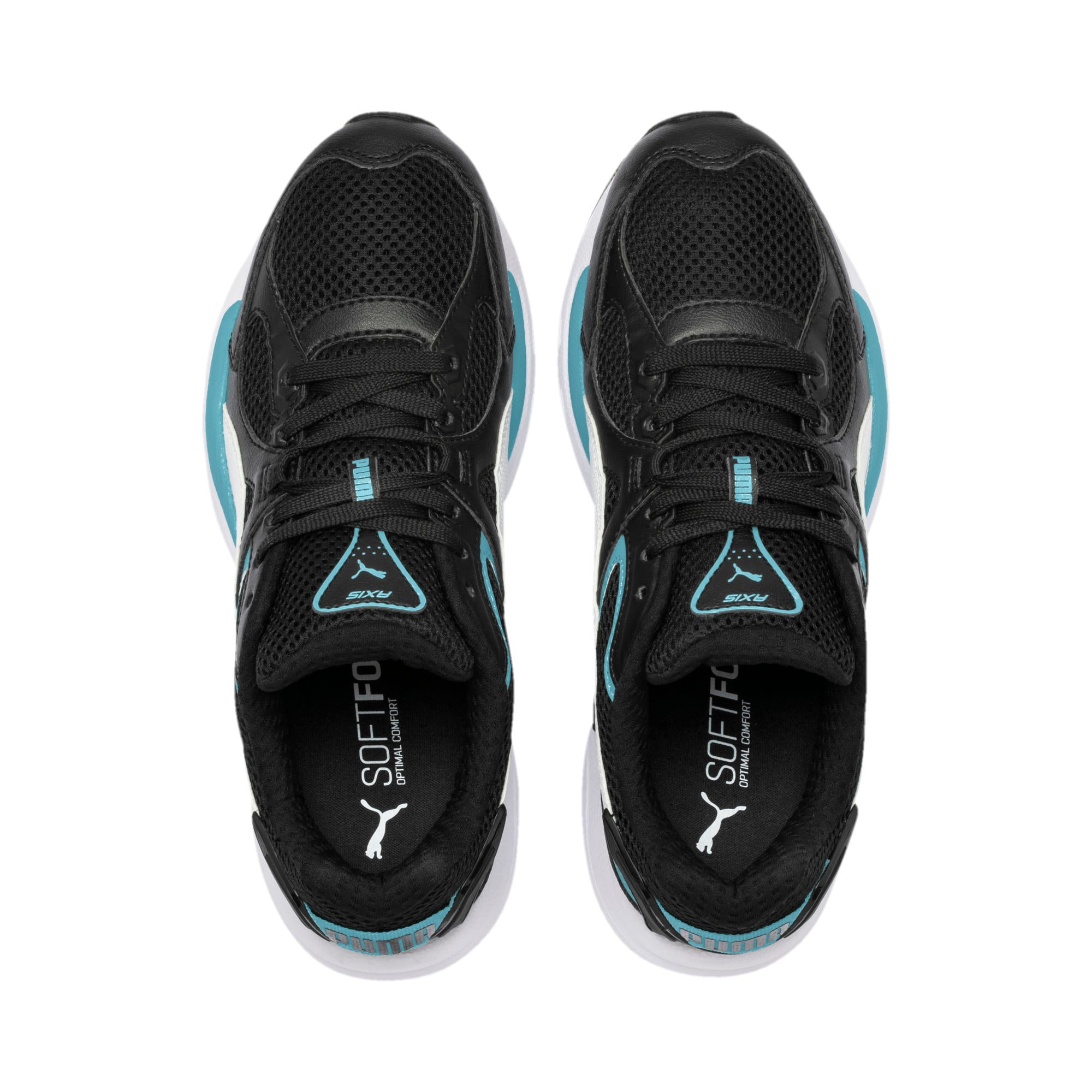 Thumbnail 8 of Axis Plus 90s Trainers, Puma Black-White-Milky Blue, medium-IND