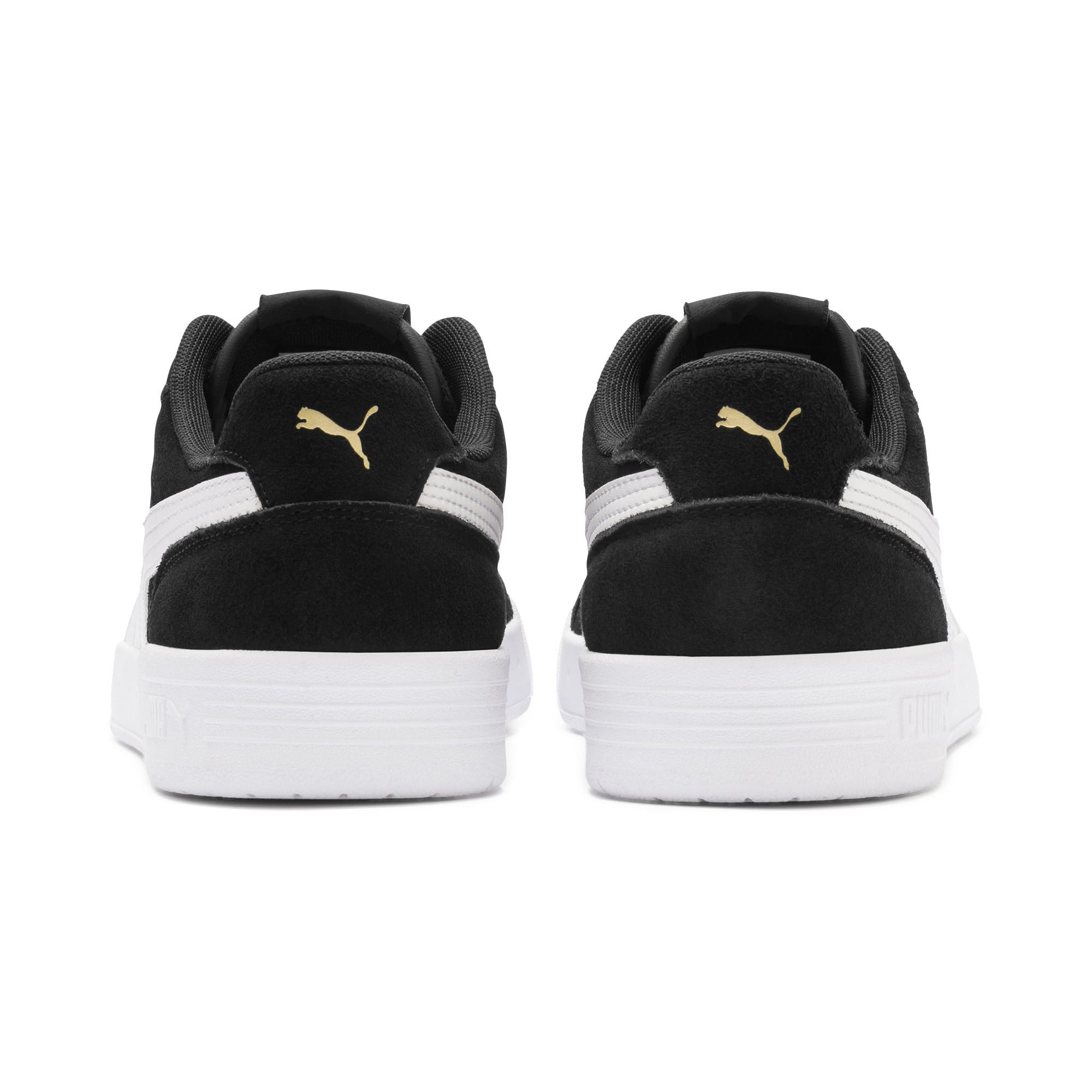 Thumbnail 5 of Caracal Suede Trainers, P.Black-P.White-P. Team Gold, medium-IND