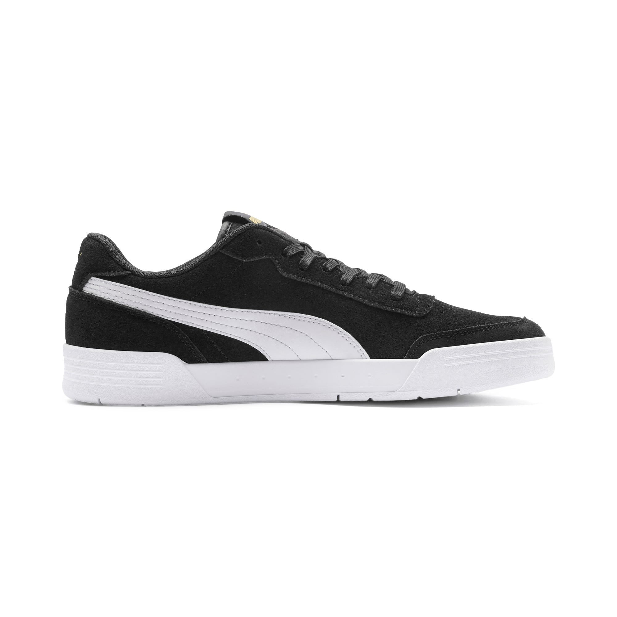 Thumbnail 7 of Caracal Suede Trainers, P.Black-P.White-P. Team Gold, medium-IND