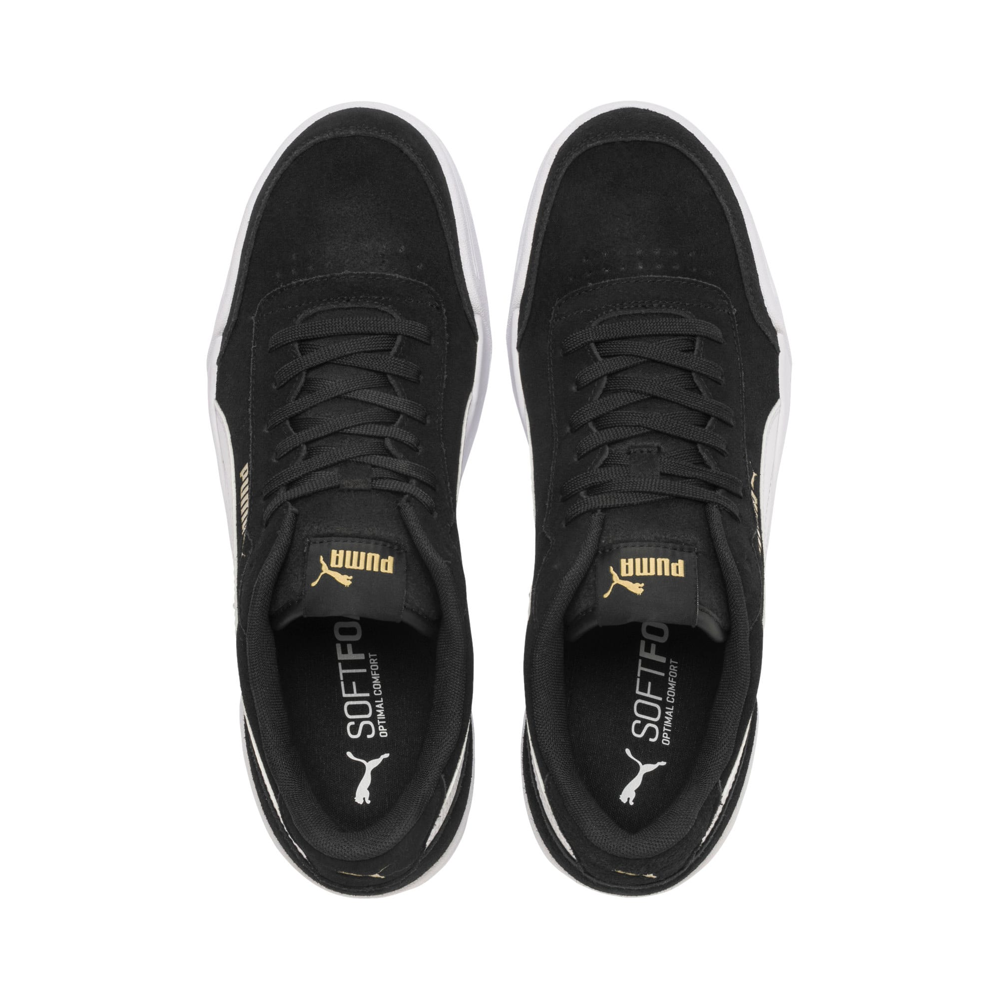 Thumbnail 8 of Caracal Suede Trainers, P.Black-P.White-P. Team Gold, medium-IND
