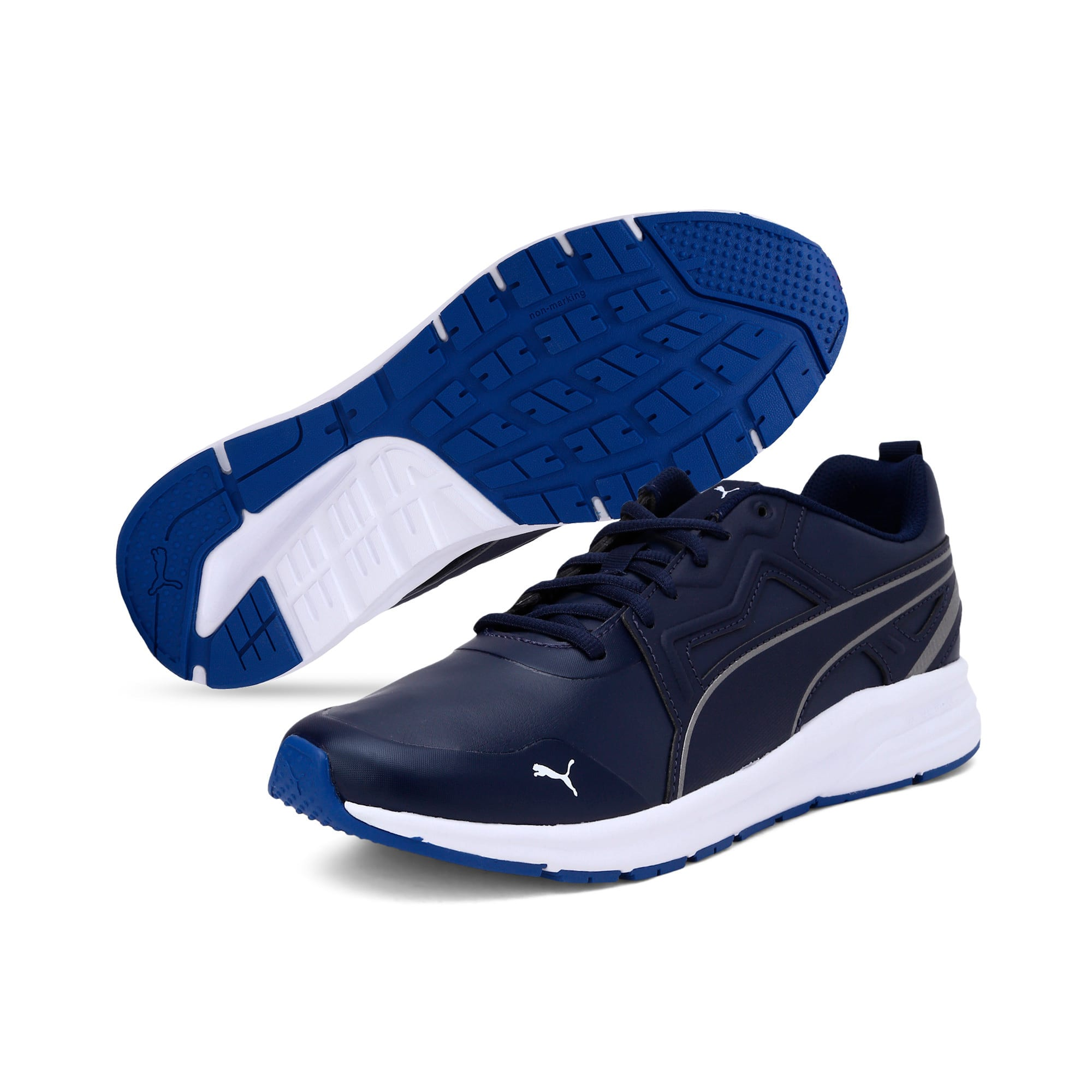 Thumbnail 4 of Pure Jogger SL Trainers, Peacoat-Silver-White-Blue, medium-IND