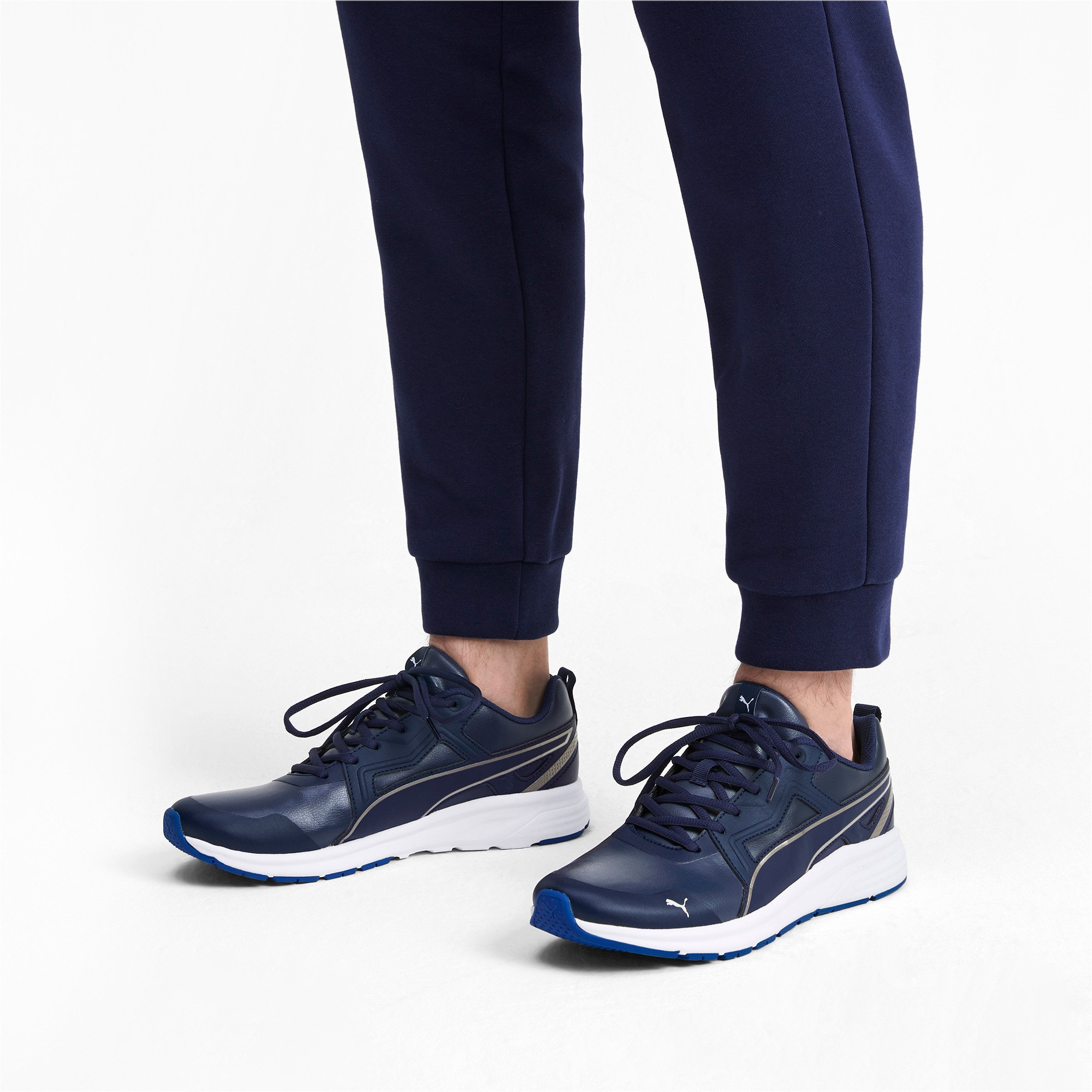 Thumbnail 2 of Pure Jogger SL Trainers, Peacoat-Silver-White-Blue, medium-IND