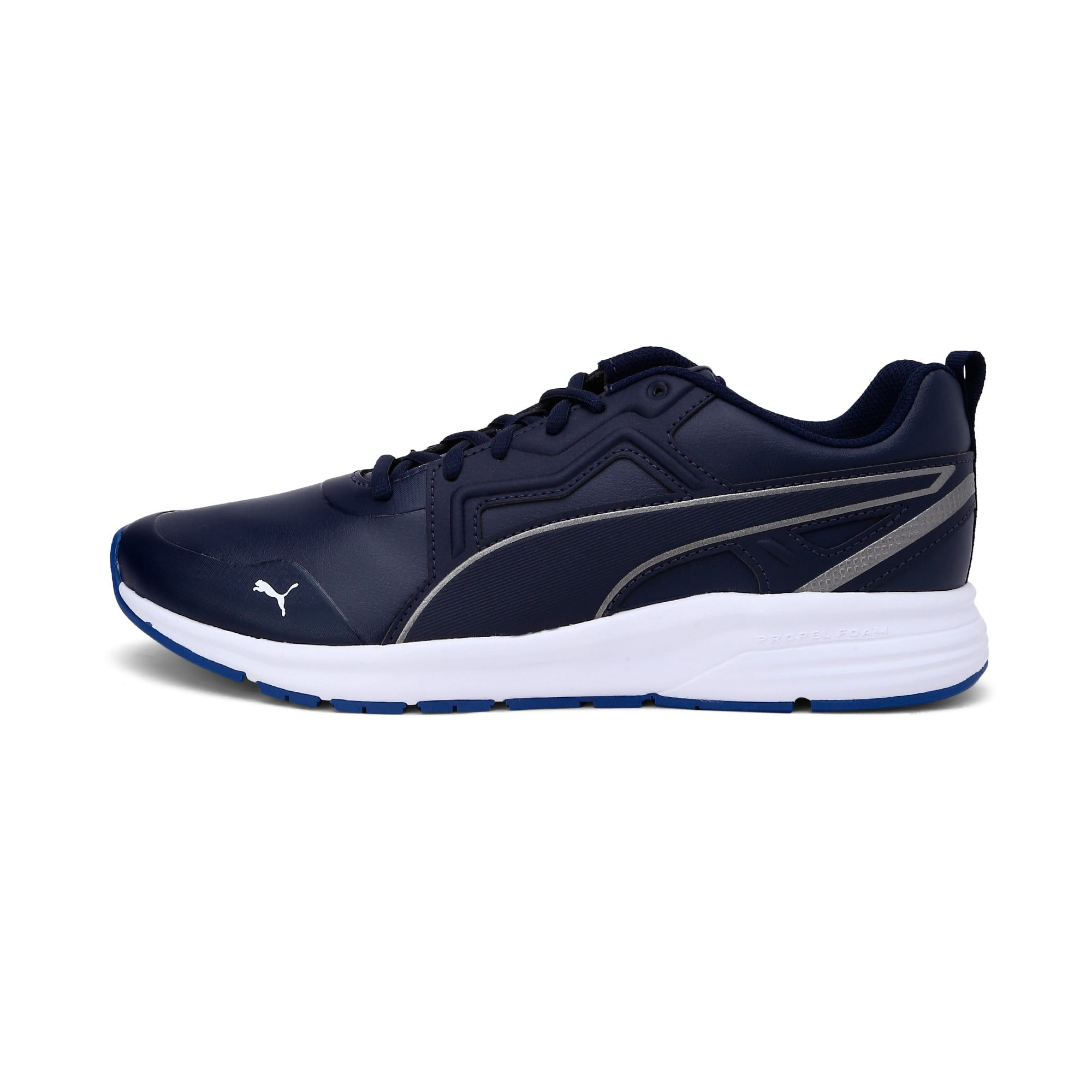 Thumbnail 1 of Pure Jogger SL Trainers, Peacoat-Silver-White-Blue, medium-IND