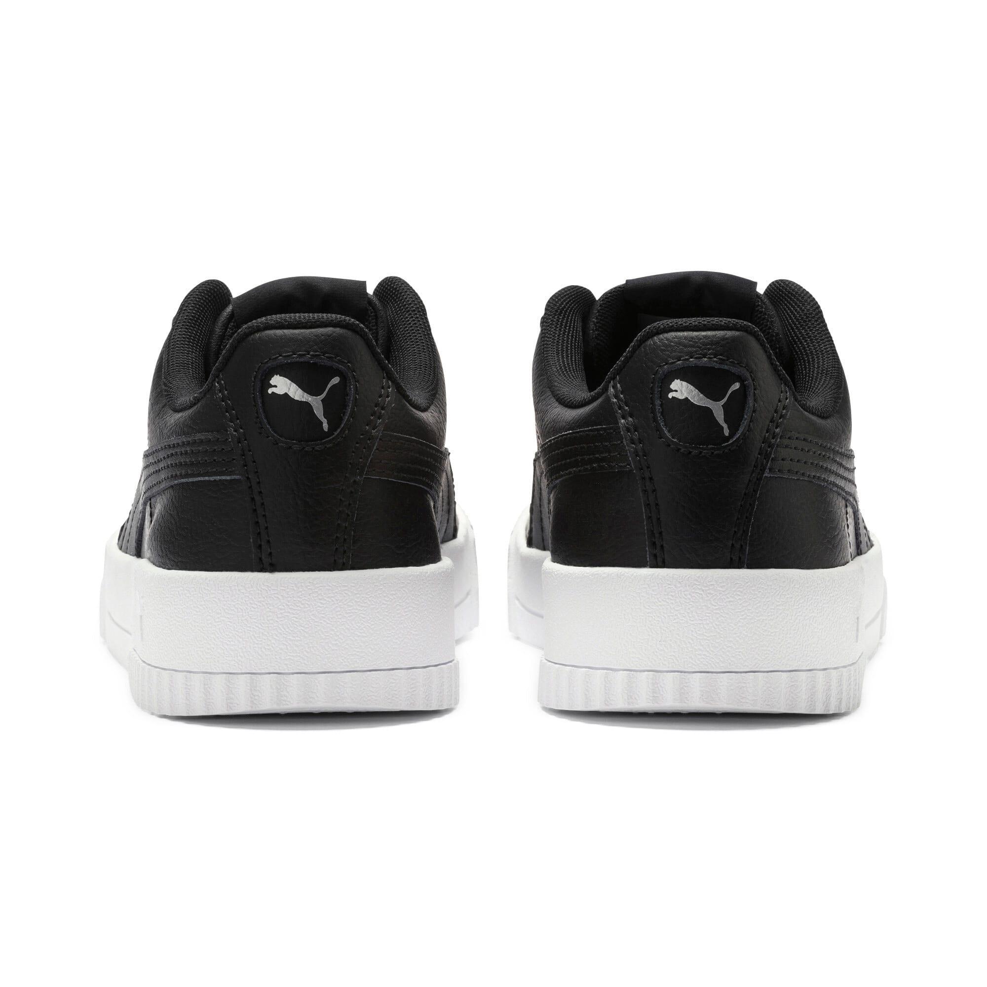 Thumbnail 4 of Carina Leather Women's Sneakers, Puma Black- White-Silver, medium