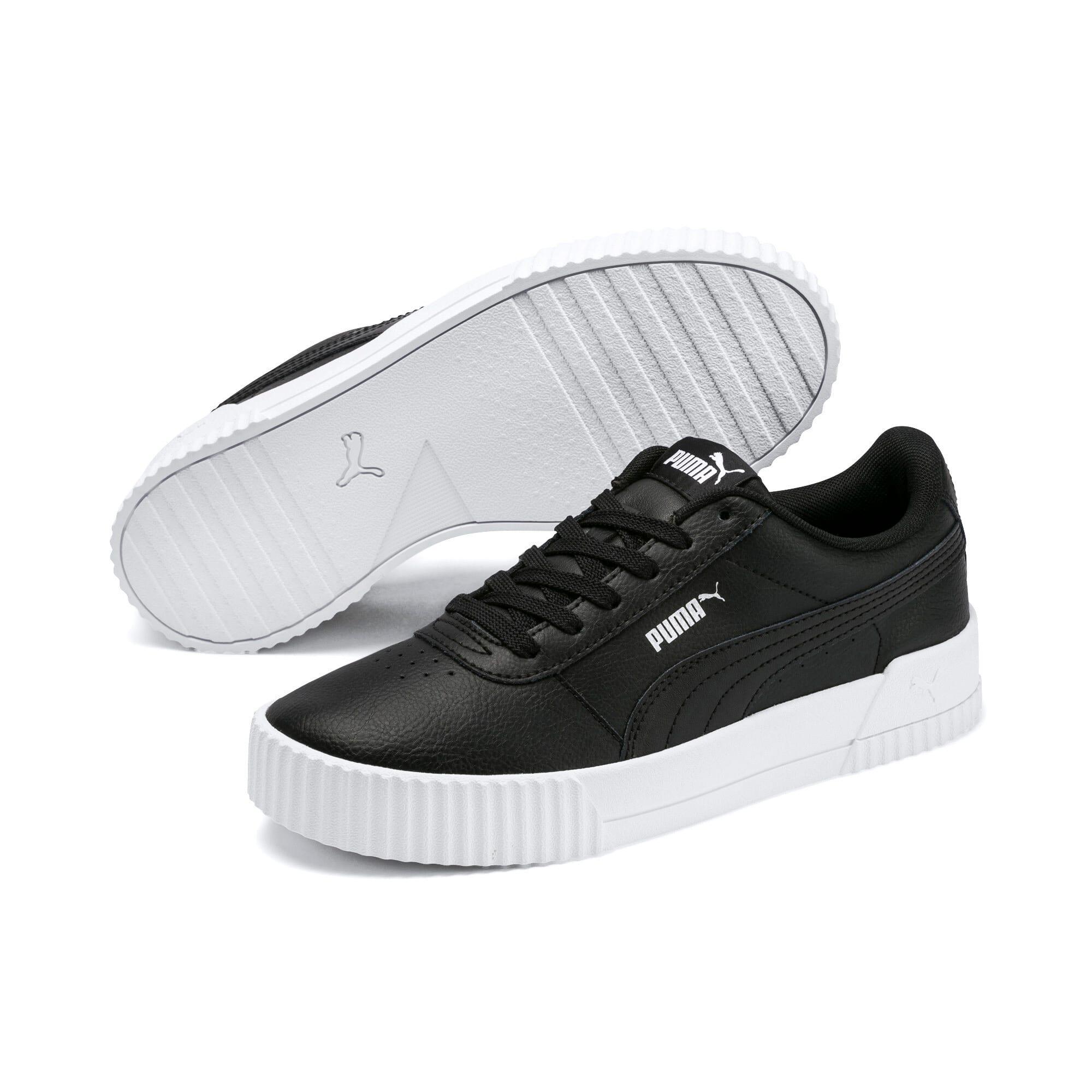 Thumbnail 3 of Carina Leather Women's Sneakers, Puma Black- White-Silver, medium