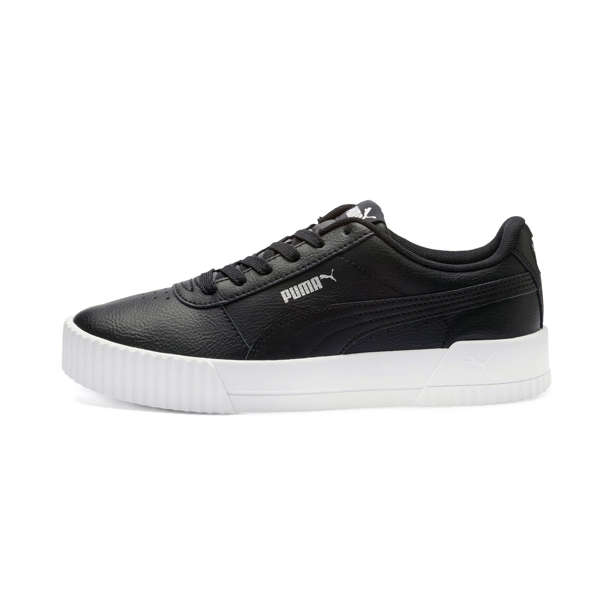 Thumbnail 1 of Carina Leather Women's Sneakers, Puma Black- White-Silver, medium